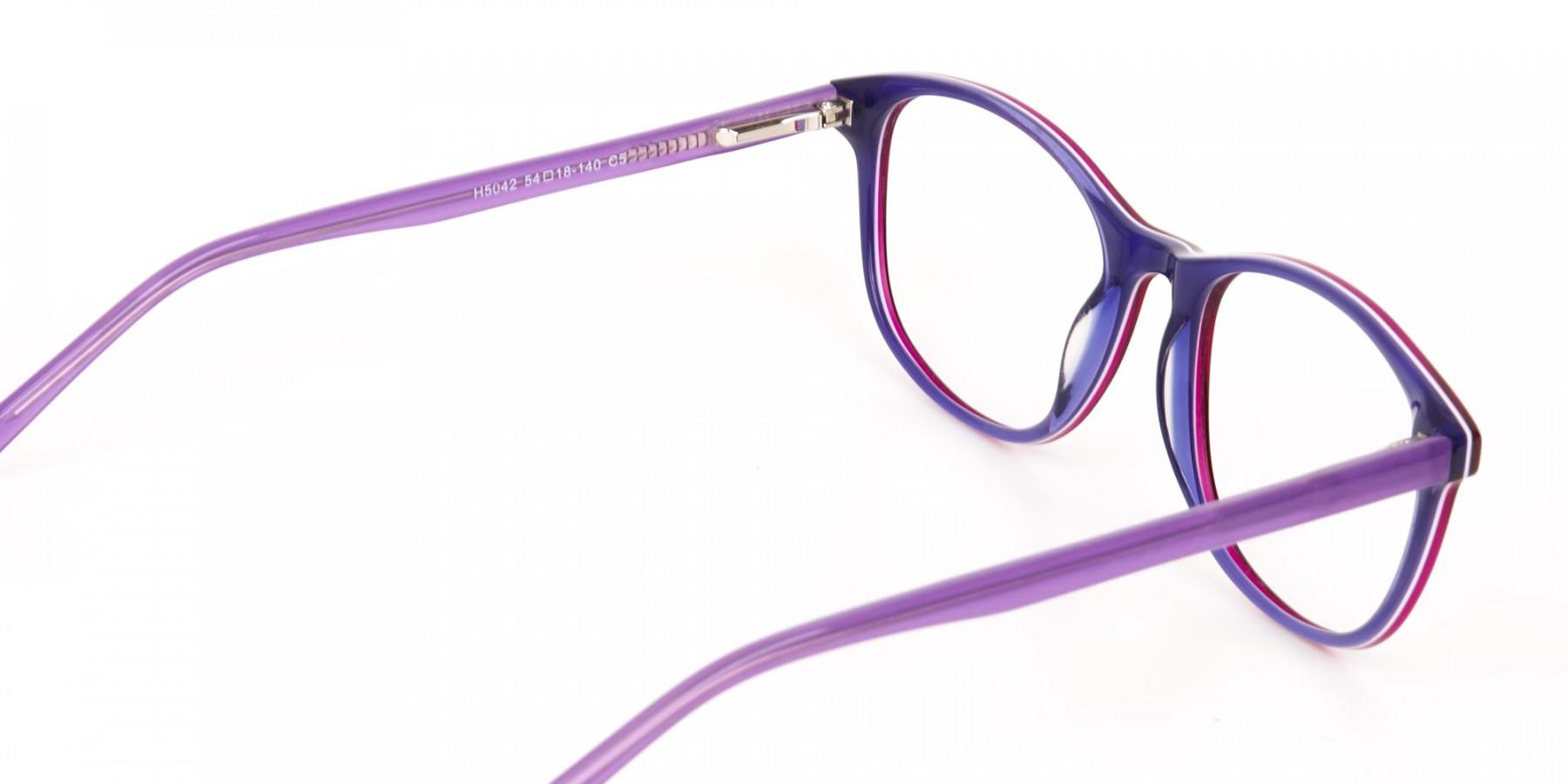 Berry Purple Rectangular Eyeglasses Frame Unisex-1