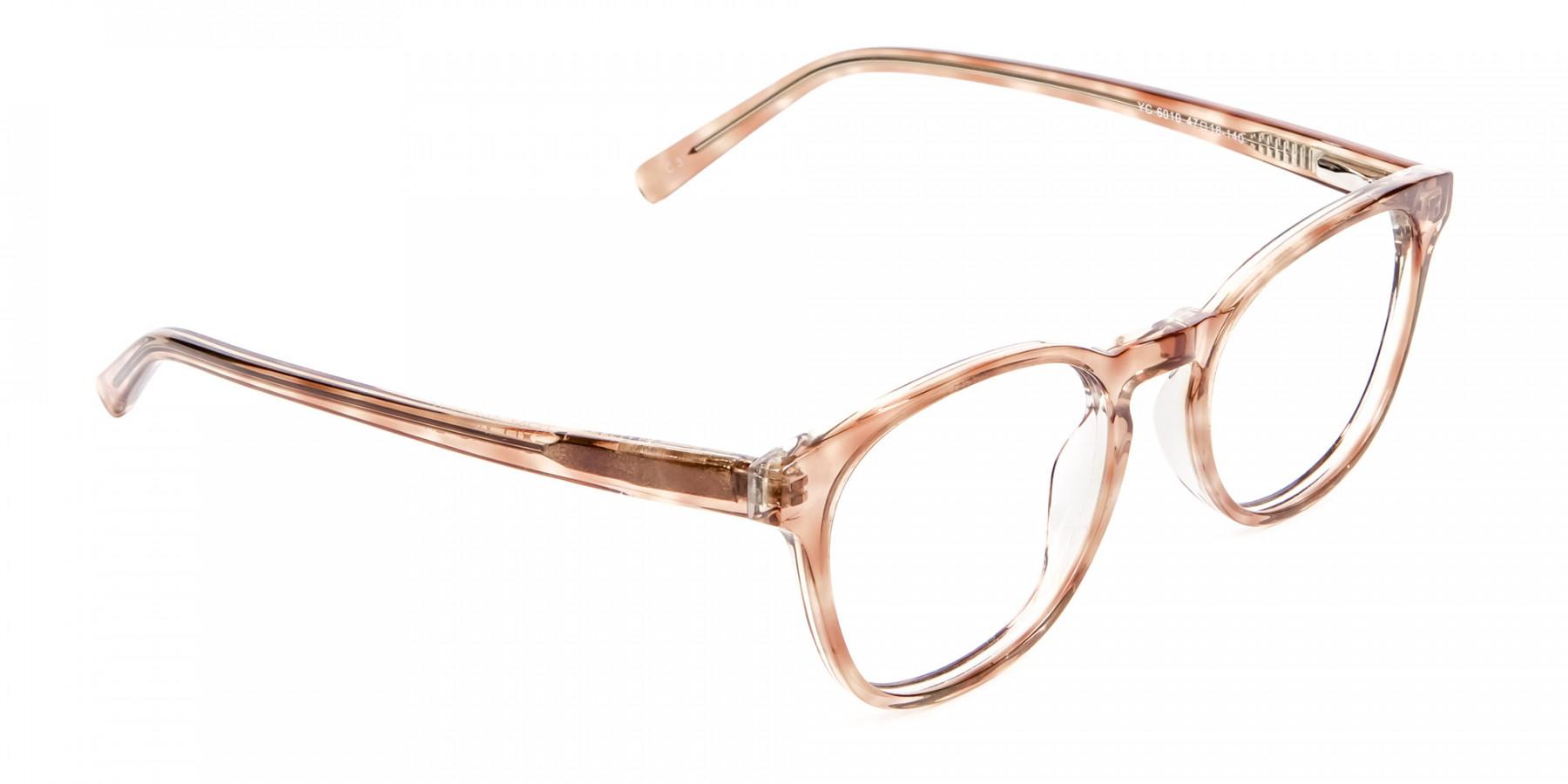 Havana Textured Designer Prescription Glasses - 1