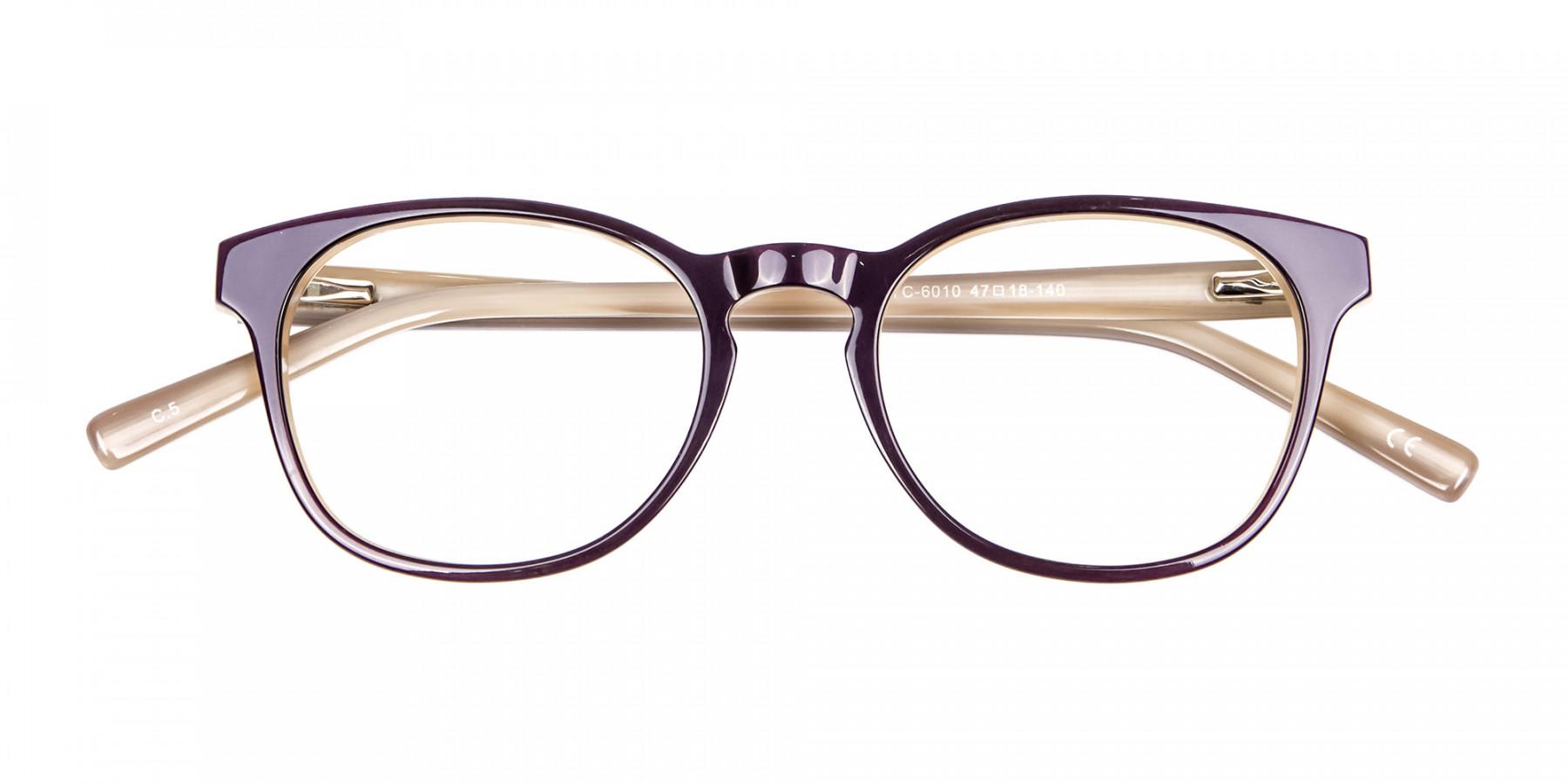 Black & Beige Reading Glasses -1