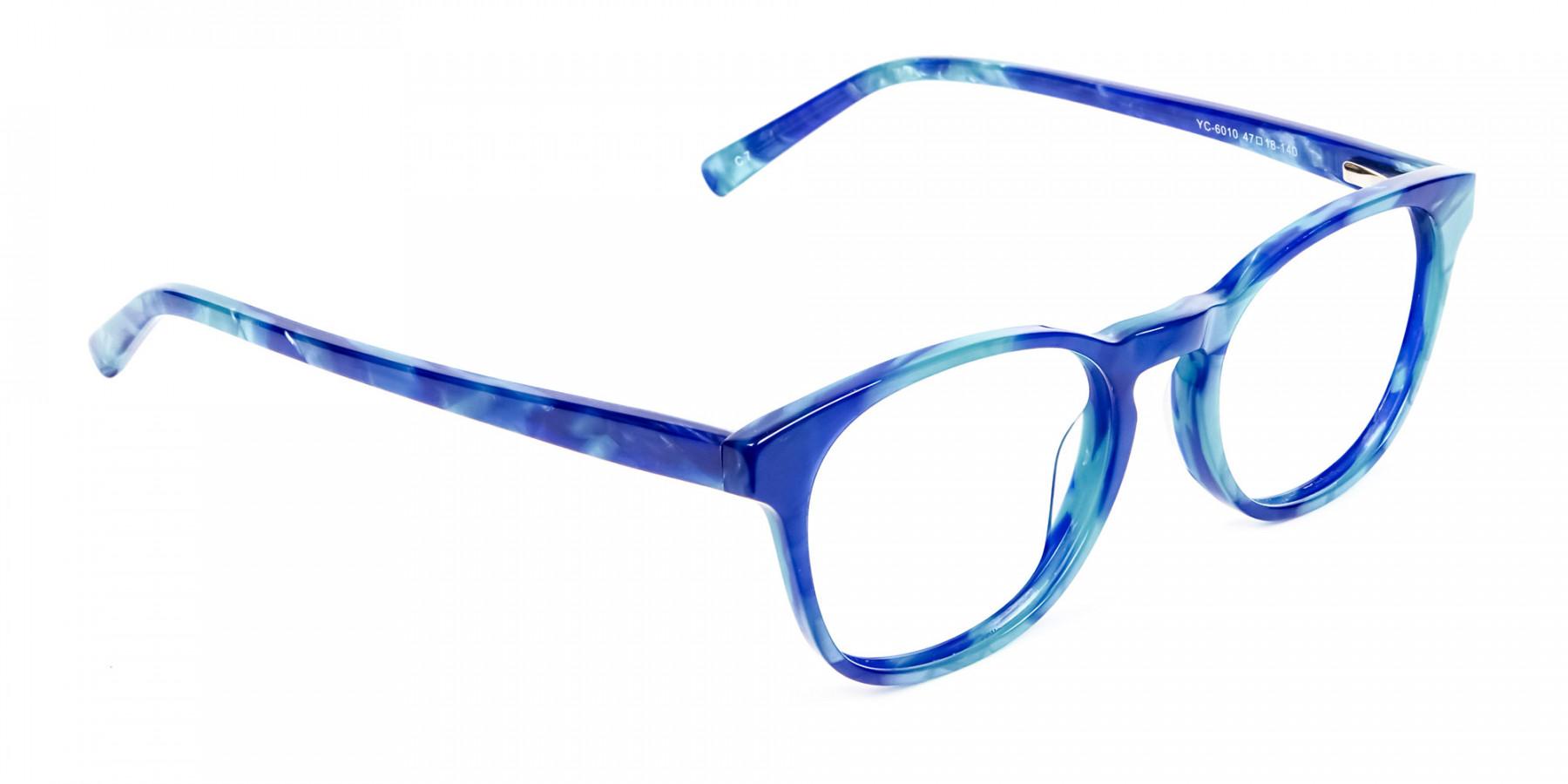 Marble Blue Reading Glasses -1