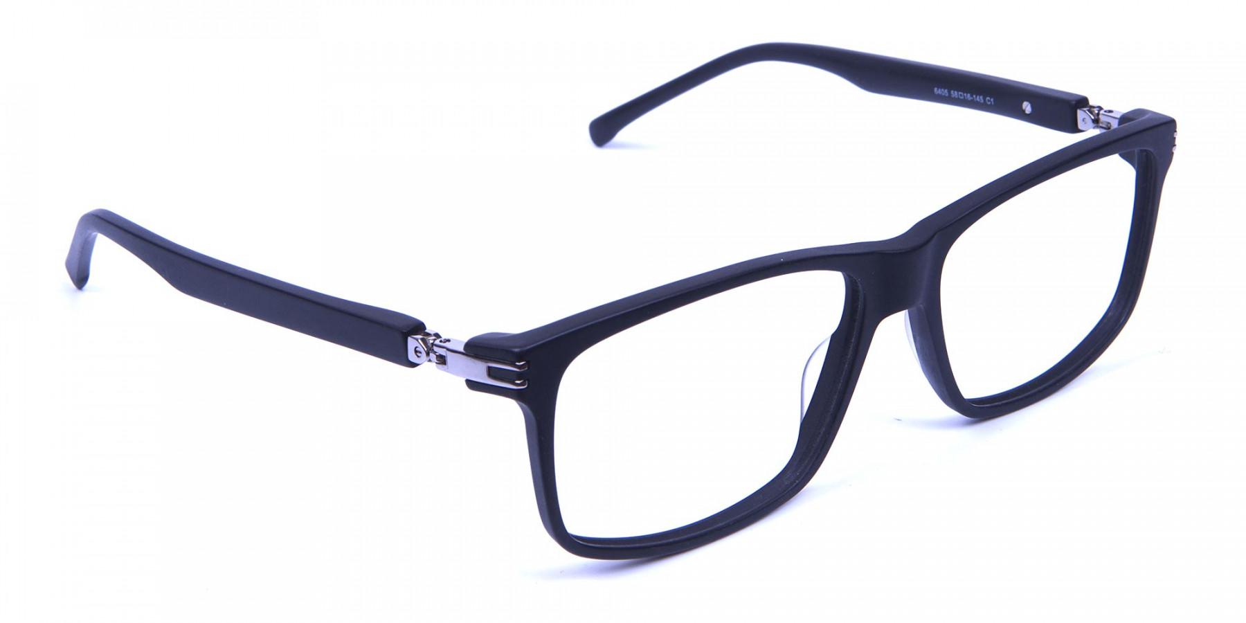 Super Flexible 360 Degree Bendable Glasses in Matte Black