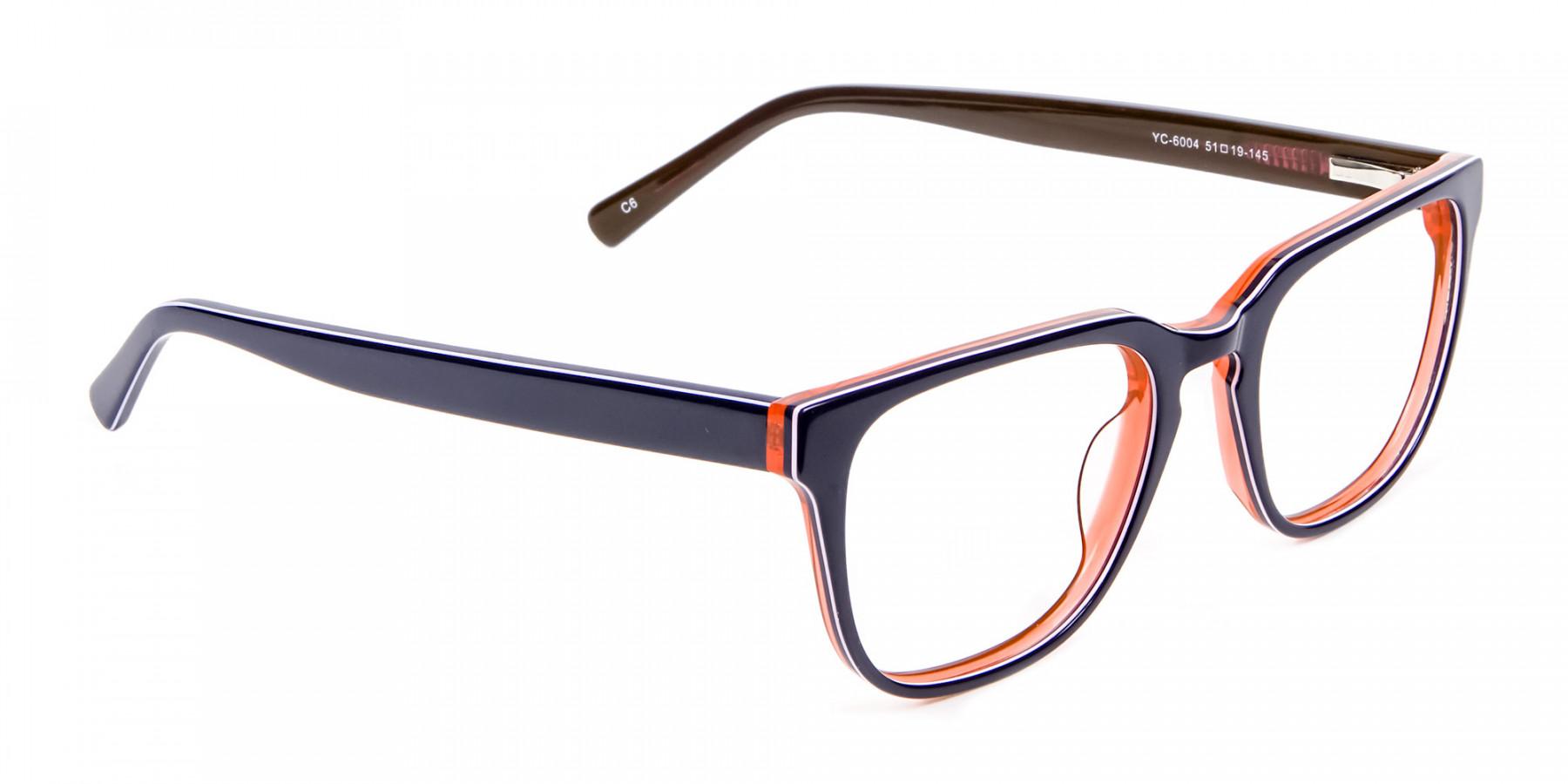 Twist of Orange & Navy Blue