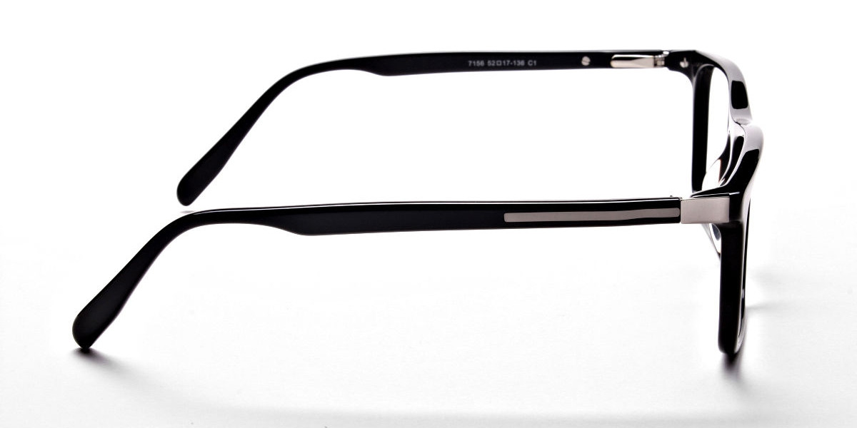 Subtle Black Wayfarer Eyeglasses