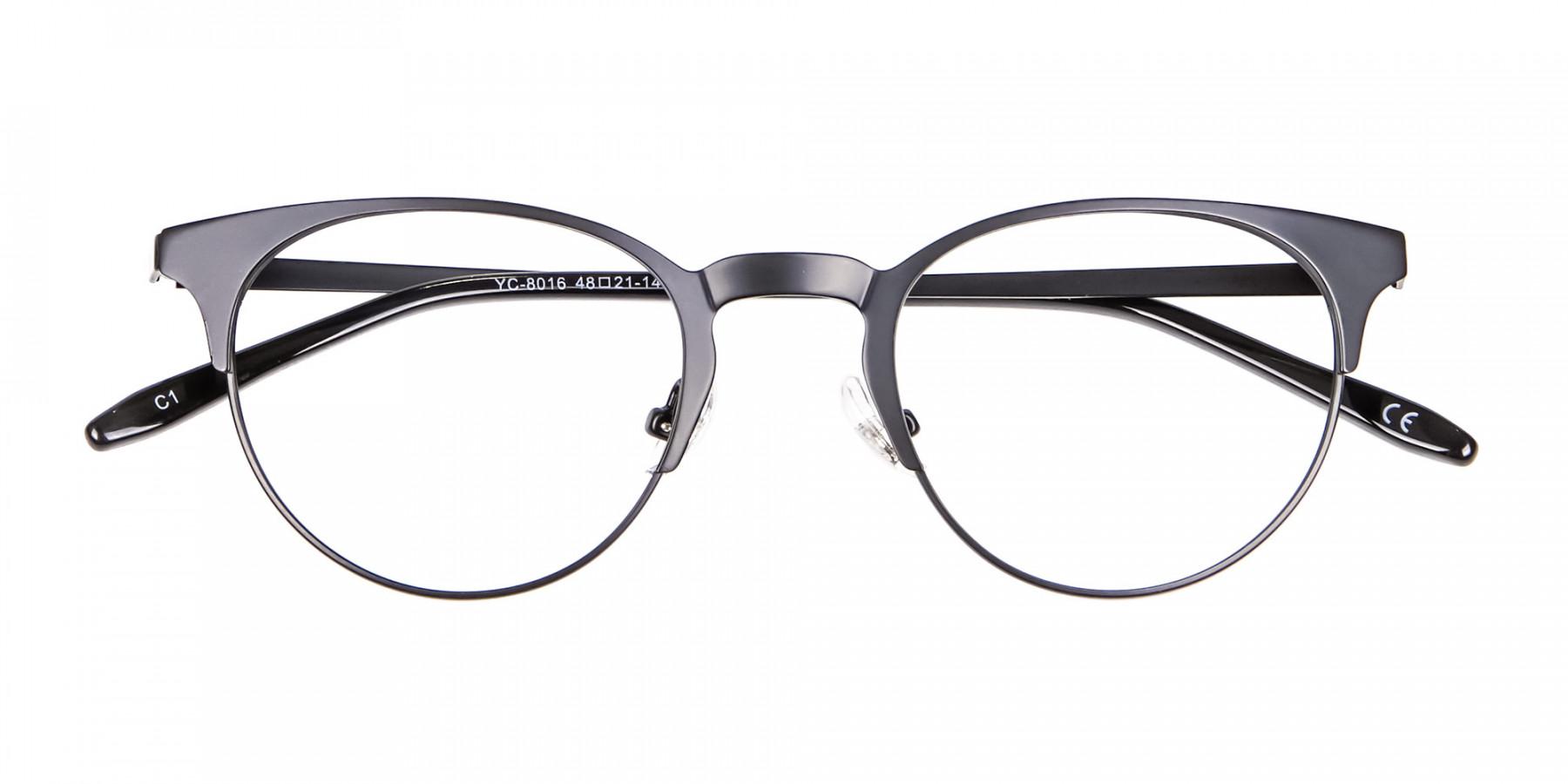 Black Cat Eye Eyeglasses Men -1