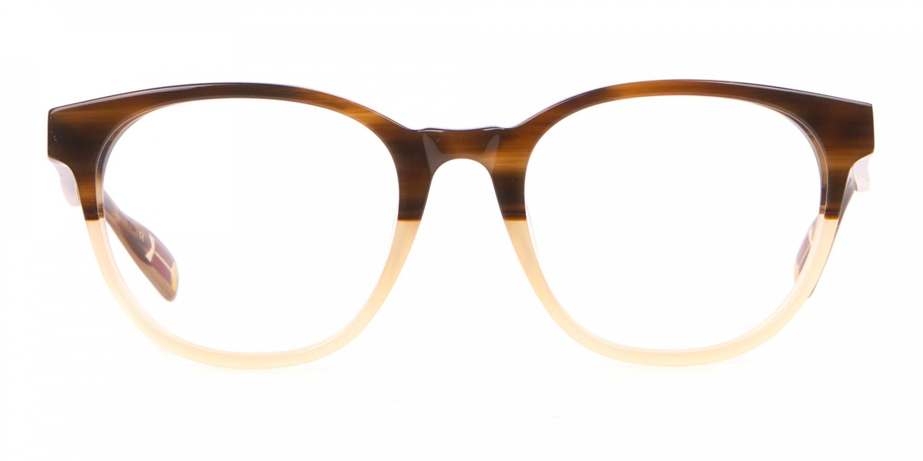 TED BAKER TB8197 Cade Glasses Classic Round Brown & Honey-1