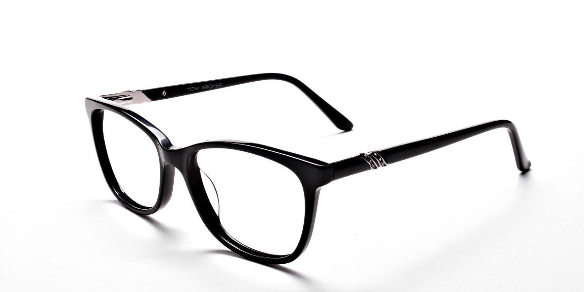 Black Diamante Glasses