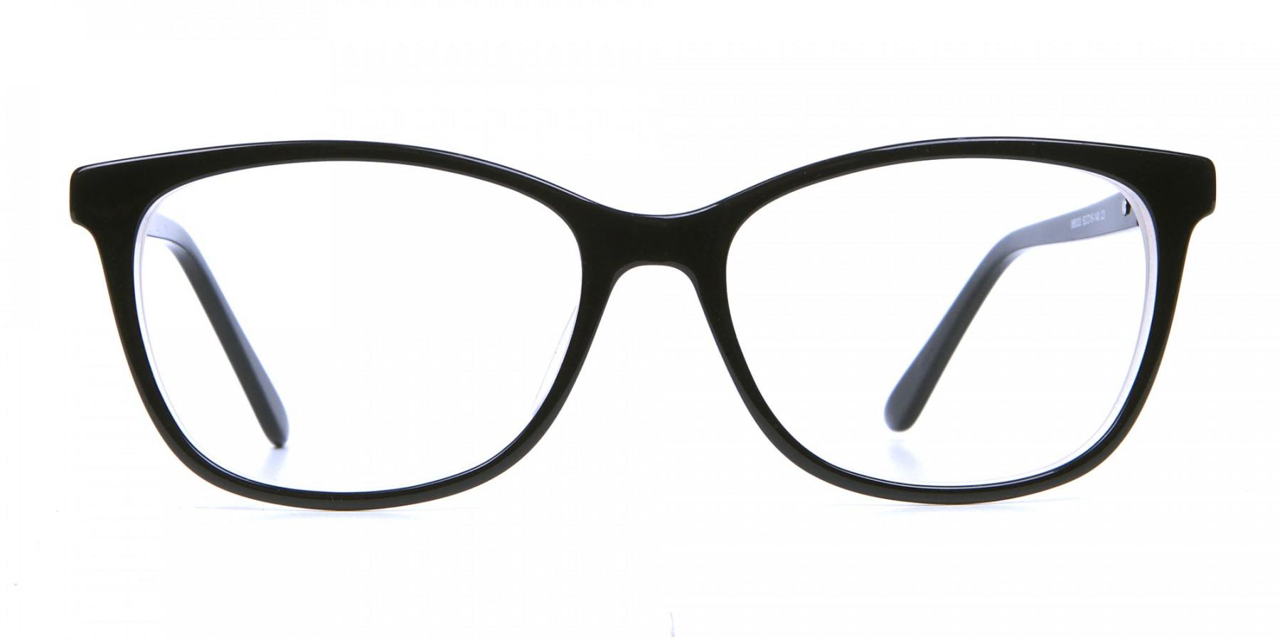 Black and White Cat-Eye Glasses