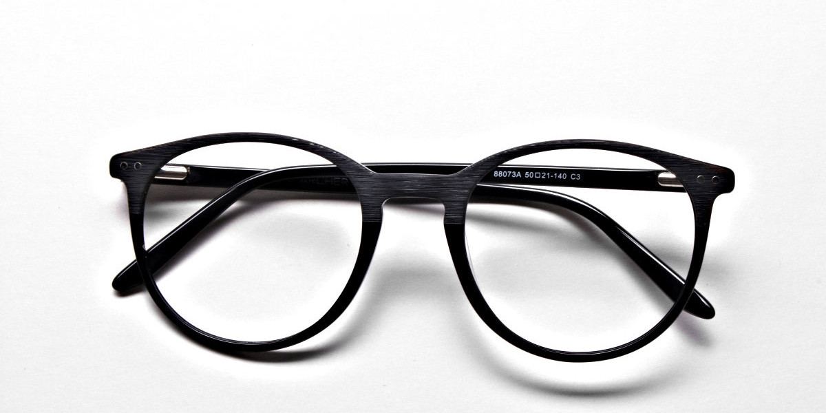 Black & Mint Round Glasses, Eyeglasses
