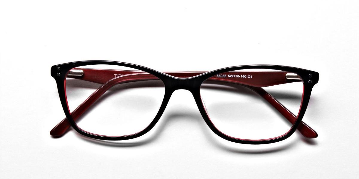 Black & Red Retro Glasses