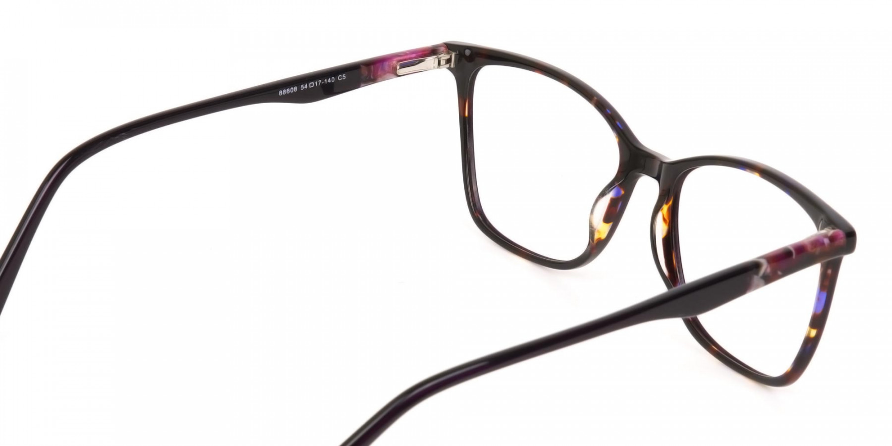 Designer Raisin Purple & Tortoise Eyeglasses Women-1