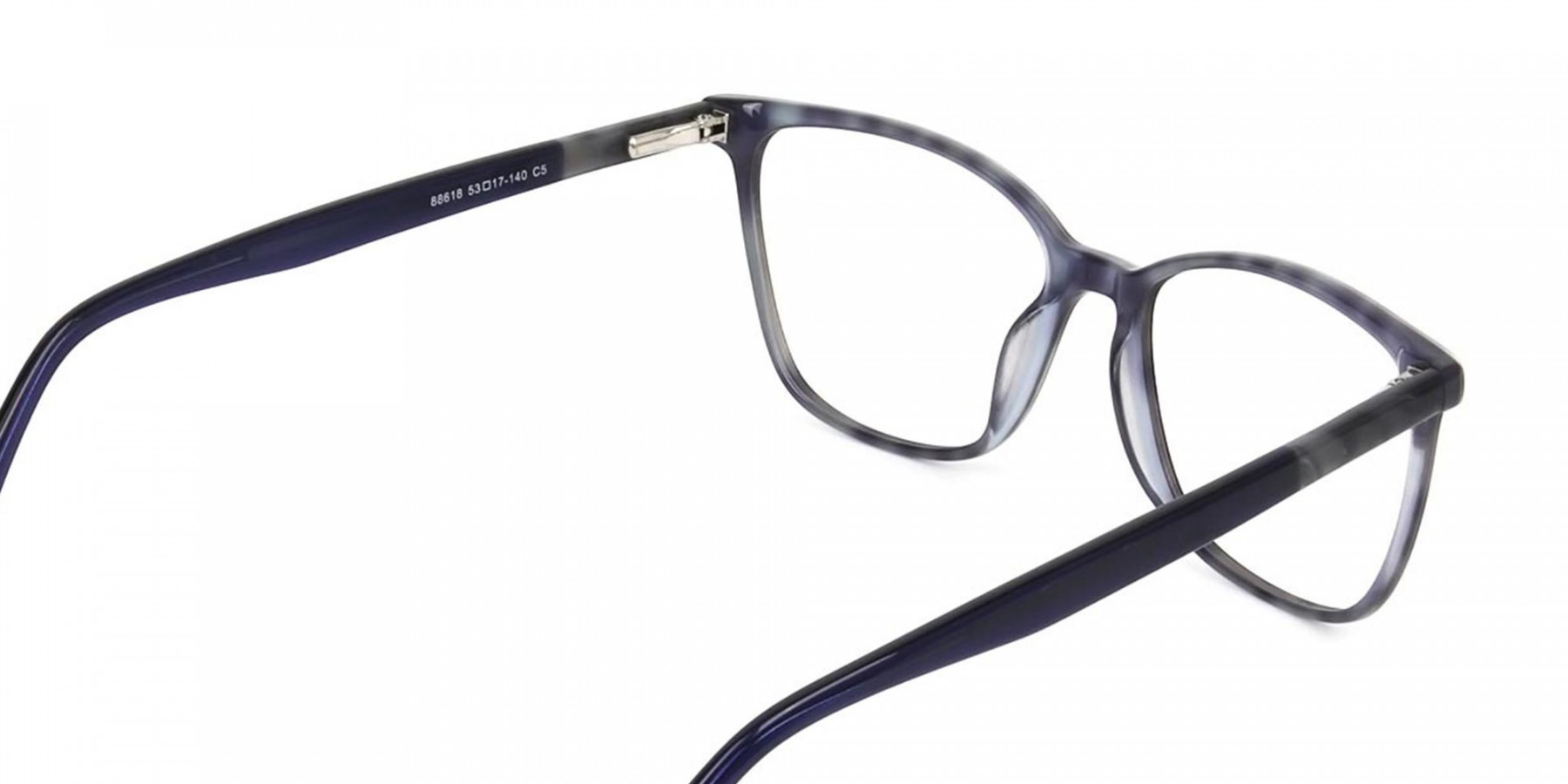 Blue Marble Grey Rectangular Spectacles - 1