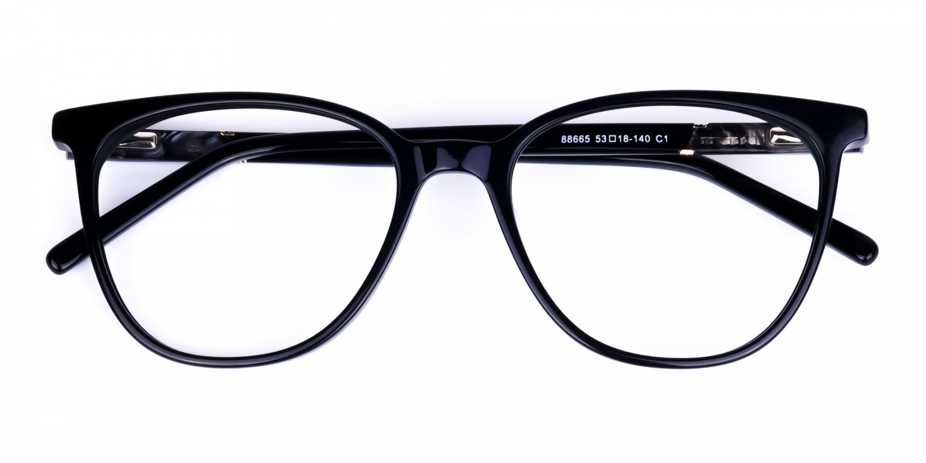 black cat eye glasses -1