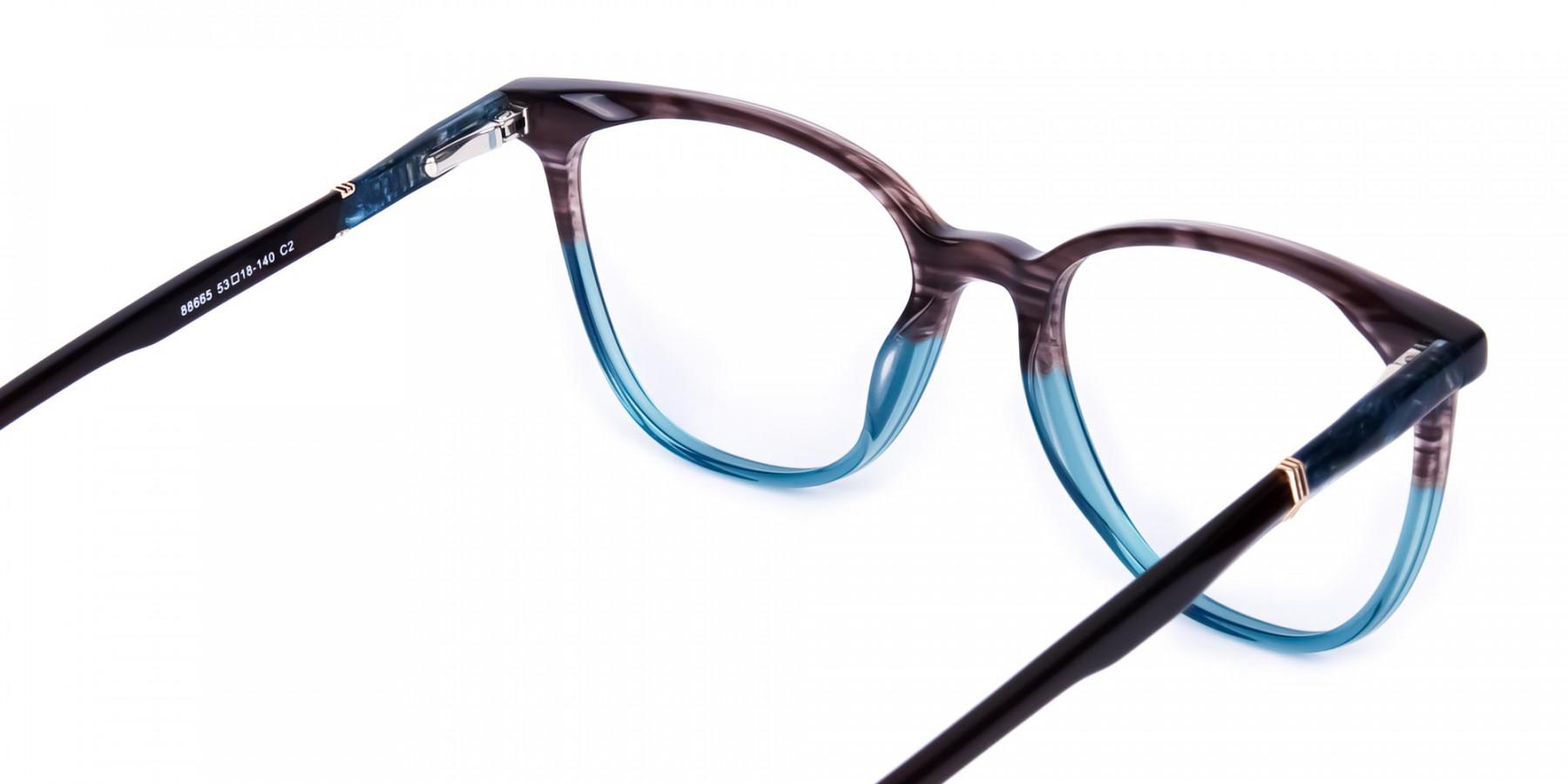 green cat eye frames - 1