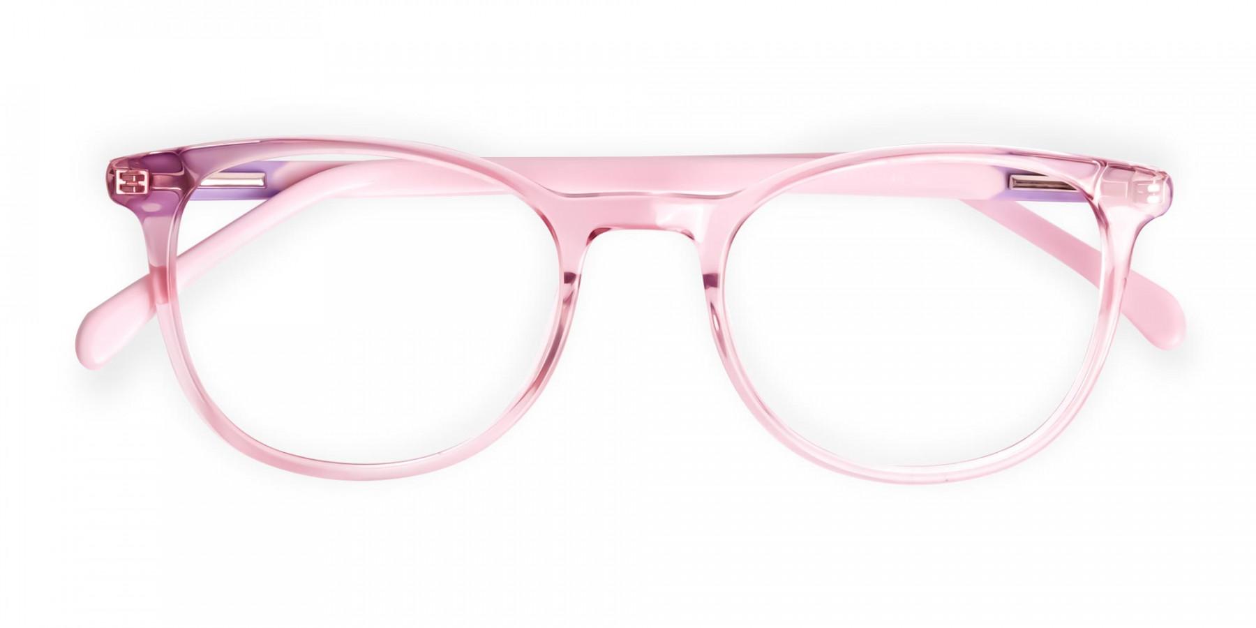 Crystal-and-transparent-blossom-Pink-Round-Glasses-Frames-1