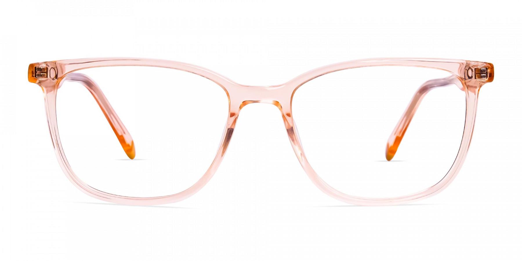 Transparent-or-crystal-clear-Orange-Wayfarer-and-Rectangular-Glasses-Frames-1