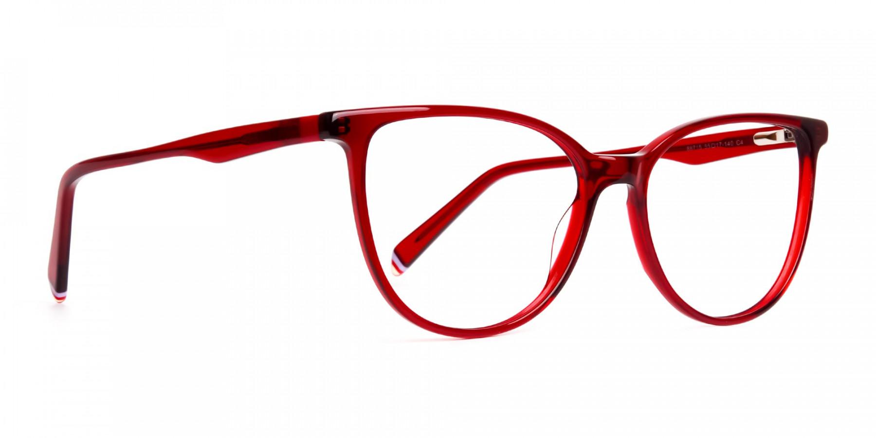Dark-Red-Translucent-Cat-eye-Glasses-Frames-1