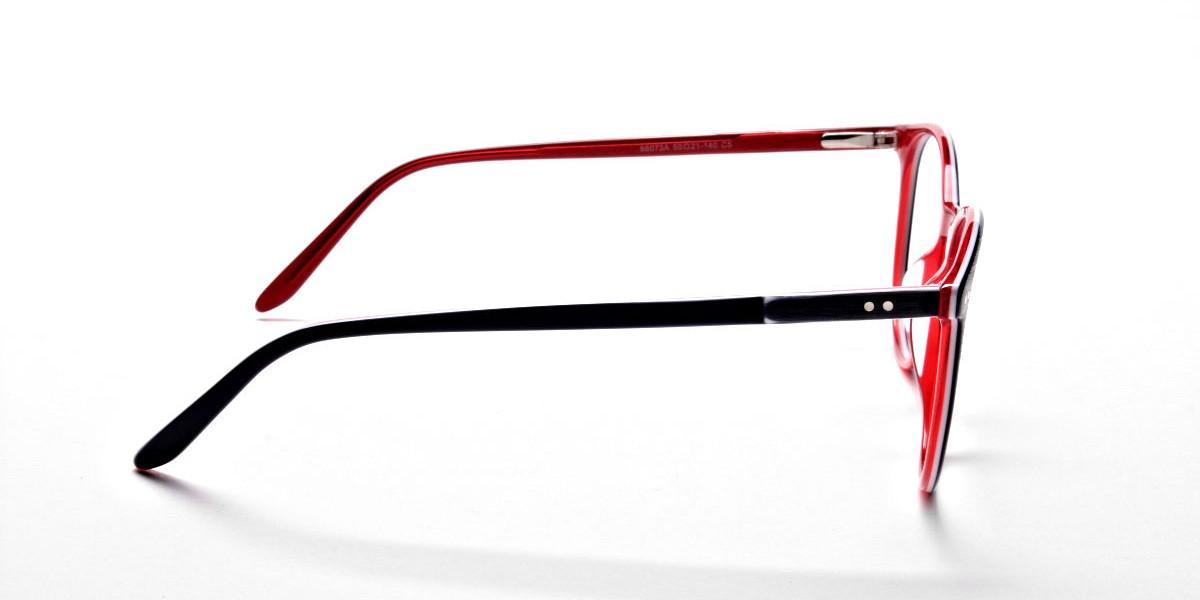 Royal Blue Round Glasses, Eyeglasses