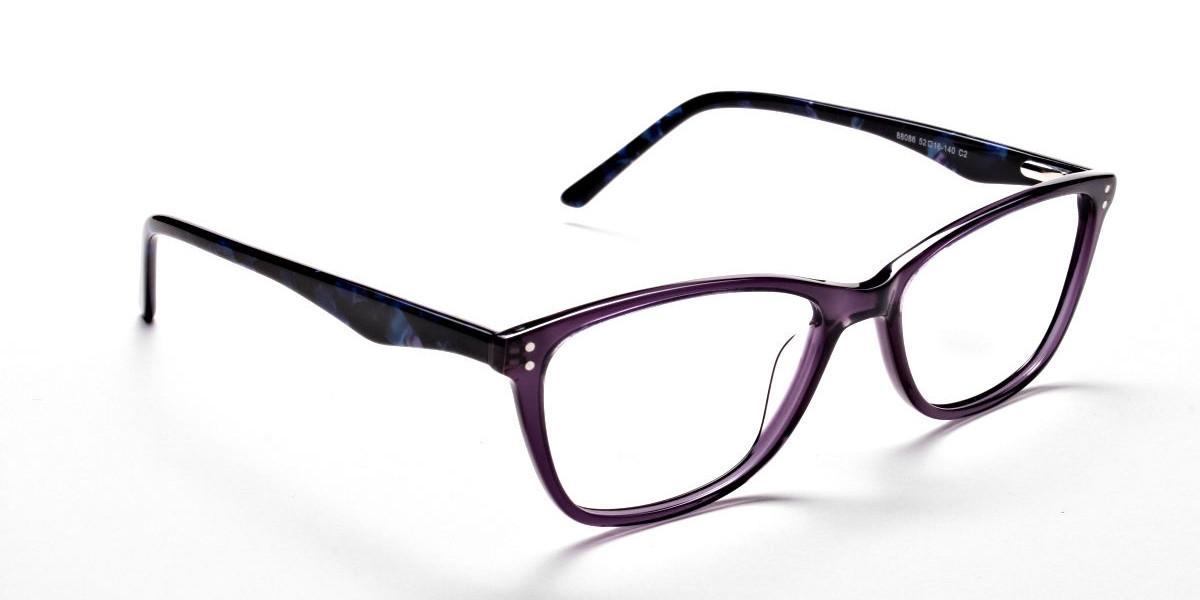 Purple & Red Retro Glasses