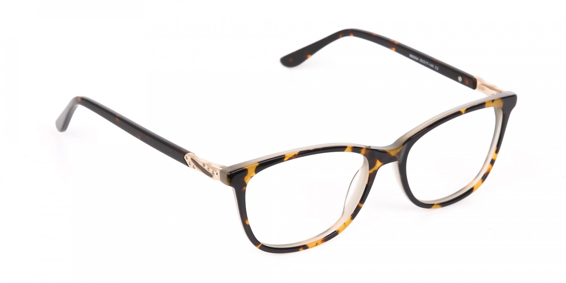 Brown Tortoise Rectangular Glasses Women  in Acetate-1