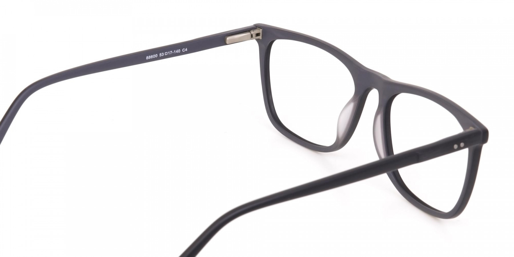Matte Black Acetate Designer Eyeglasses Unisex-1