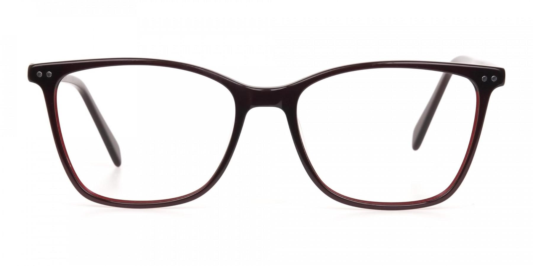 Designer Burgundy Brown Eyeglasses For Women-1