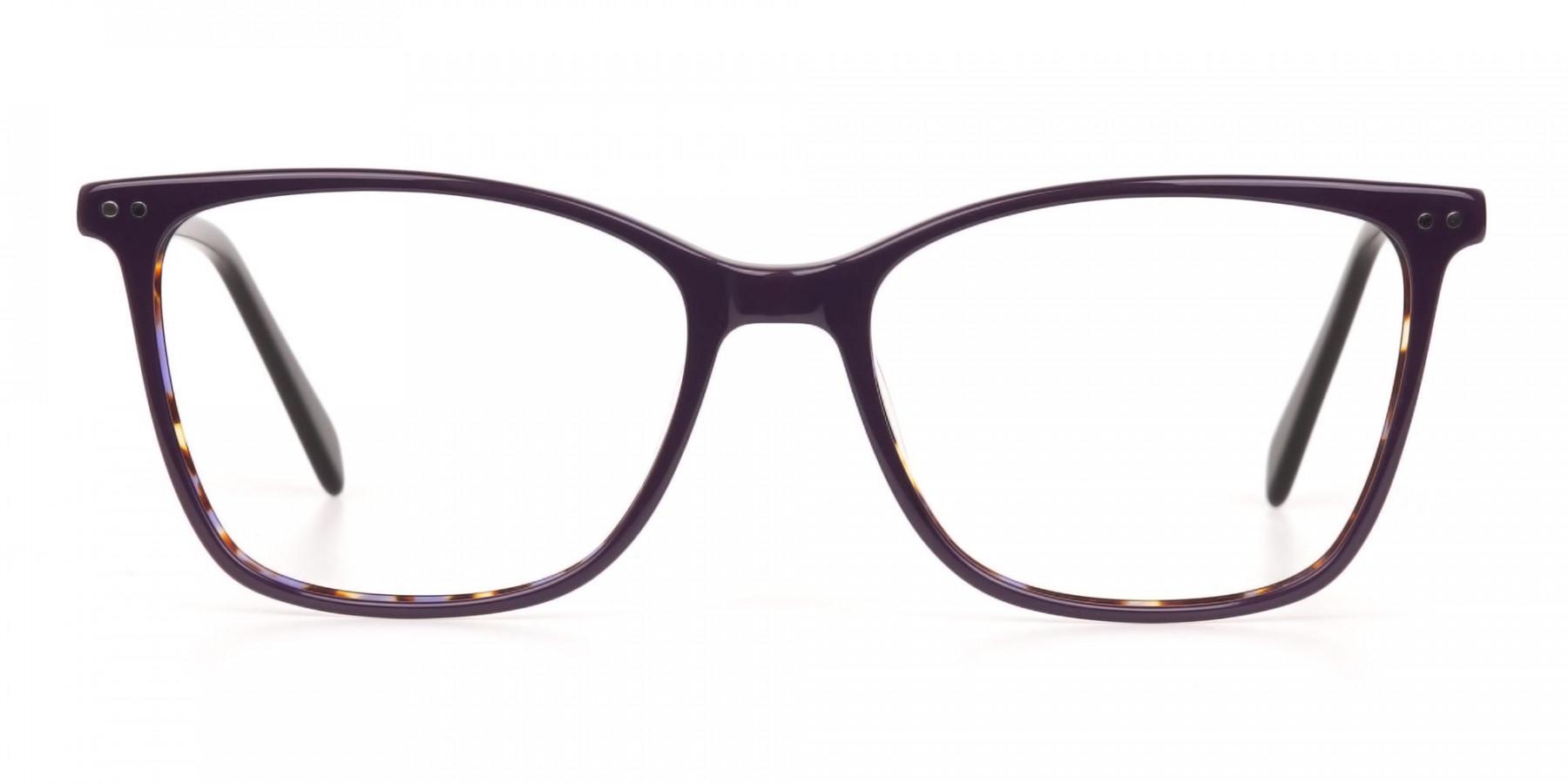 Designer Raisin Purple & Tortoise Eyeglasses Women-1
