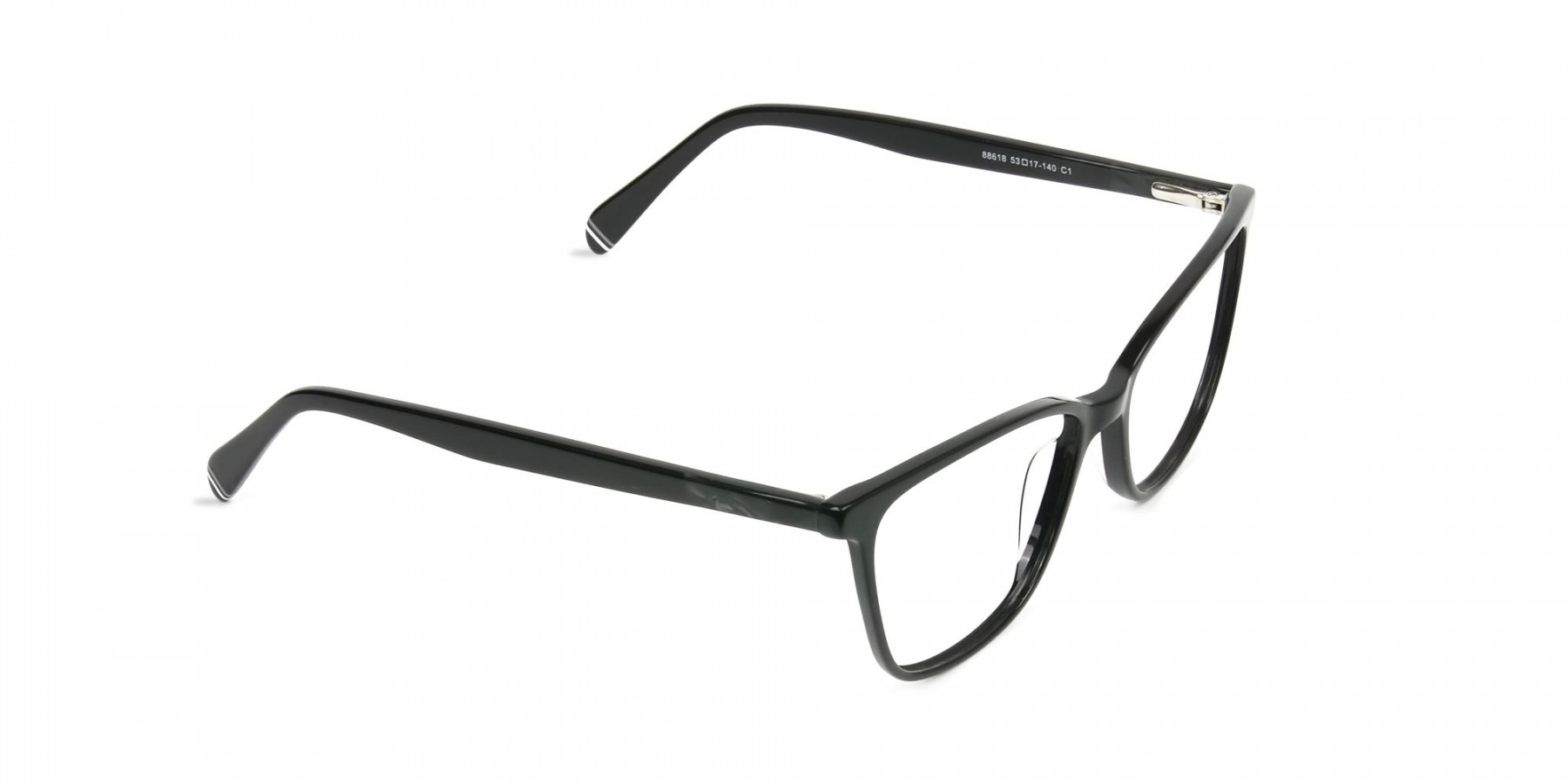 Women Black Rectangular Spectacles - 1