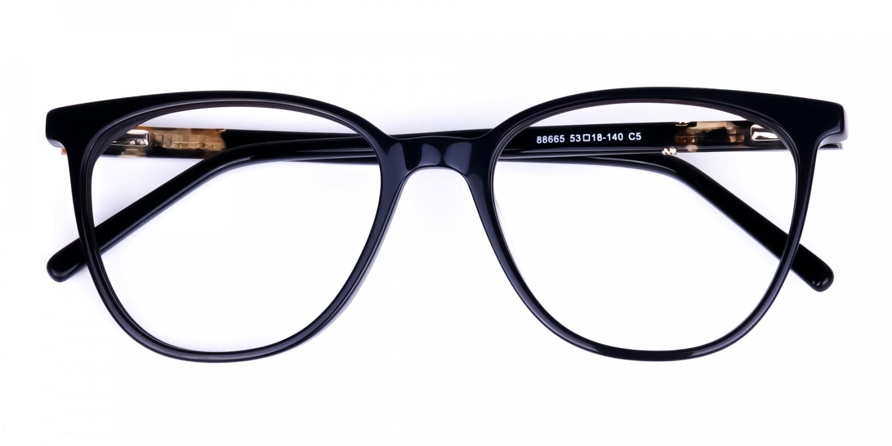 brown tortoise shell glasses - 1