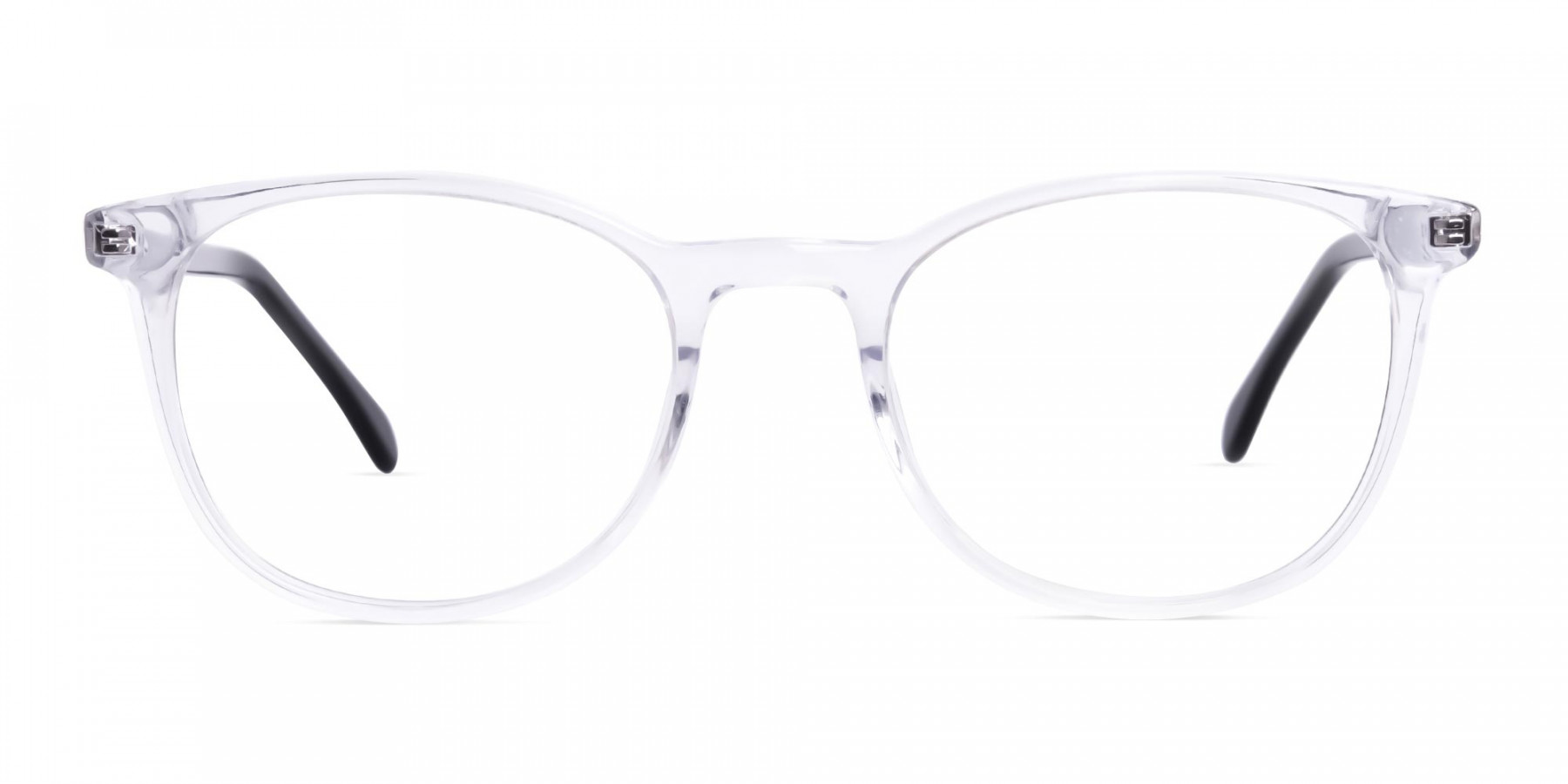 Crystal Clear Transparent Round Glasses-1