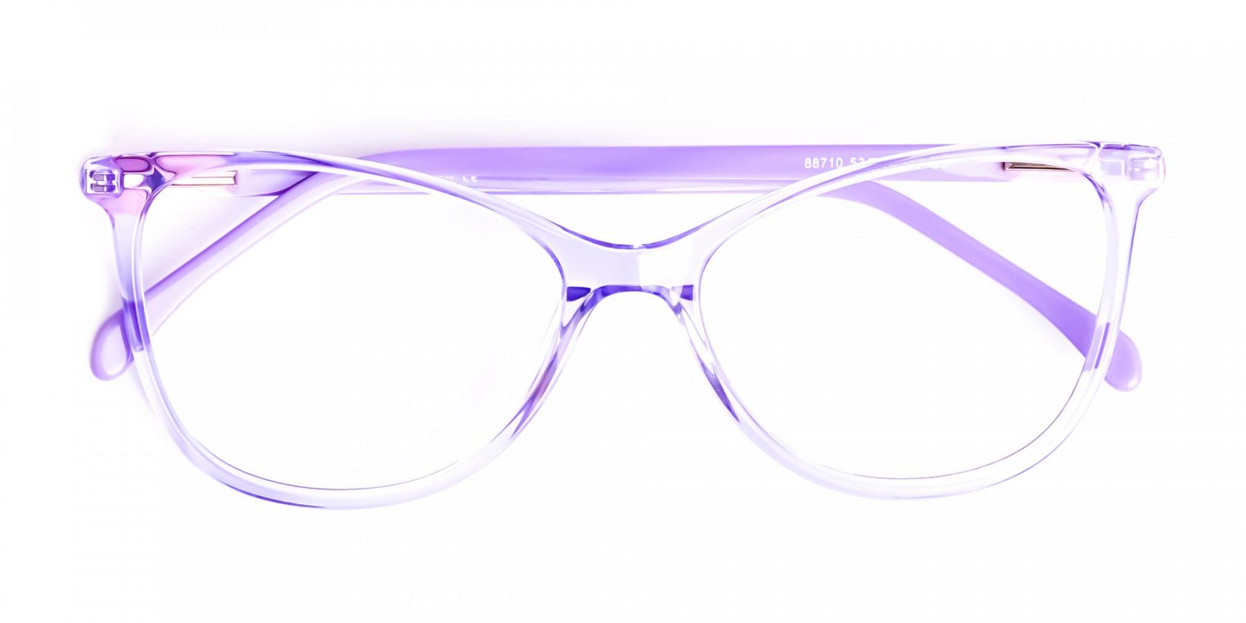 Crystal-Pastel-Purple-Cat eye-Glasses-Frames-1