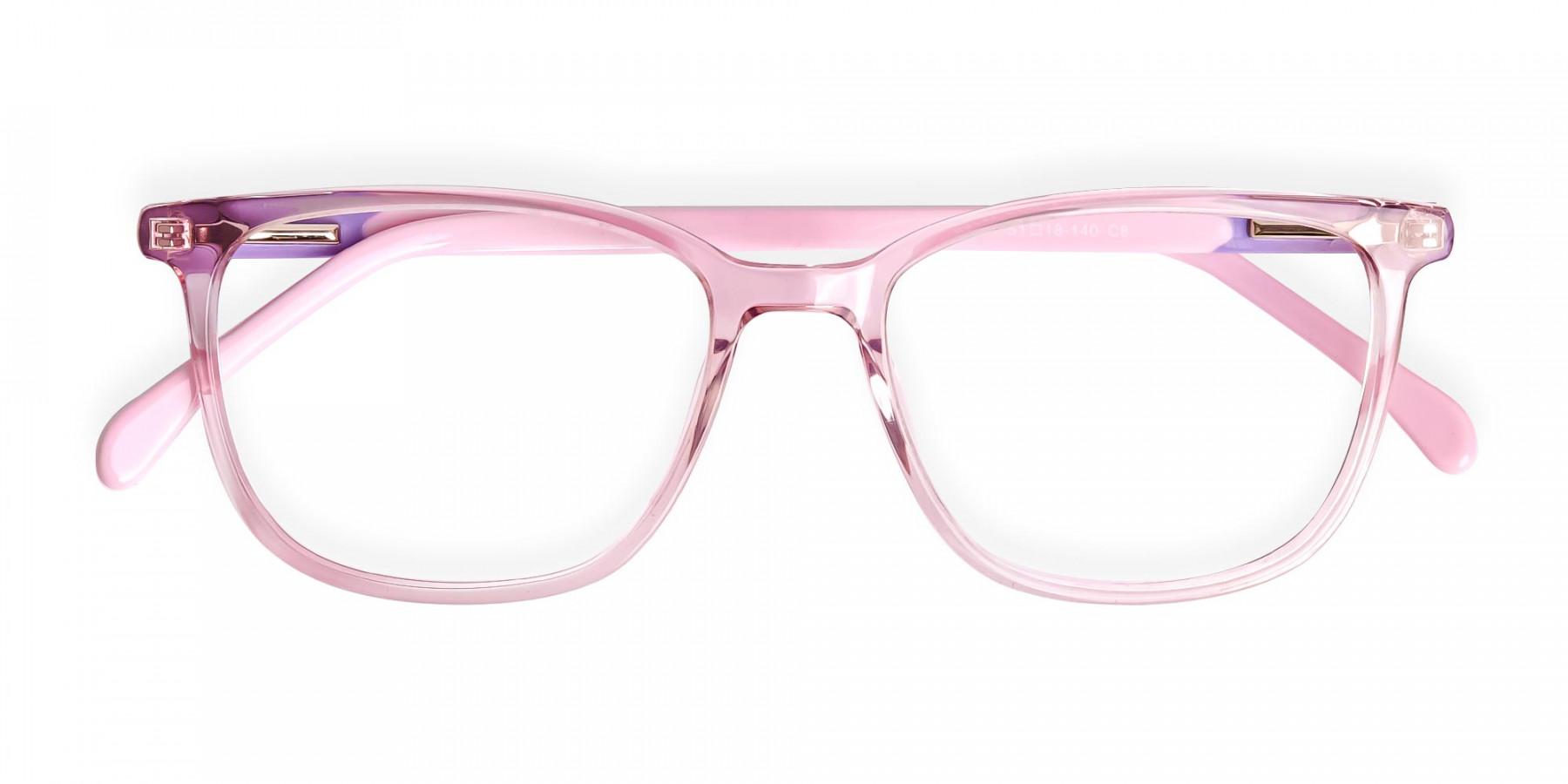 Crystal-Clear-or-Transparent-Blossom-and-Hot-Pink-wayfarer-Rectangular-Glasses-Frames-1