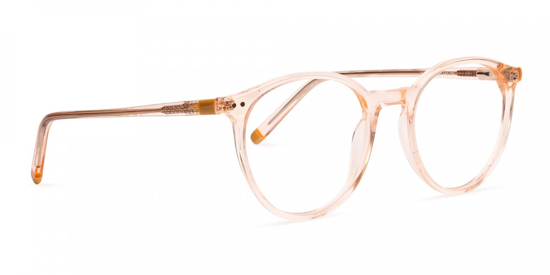 transparent-and-crystal-clear-orange-round-glasses-frames-1