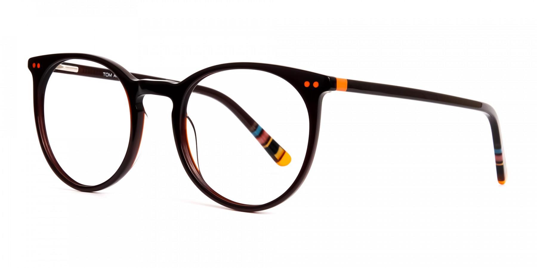 Dark-Light-Brown-Designer-Round-Glasses-frames-1