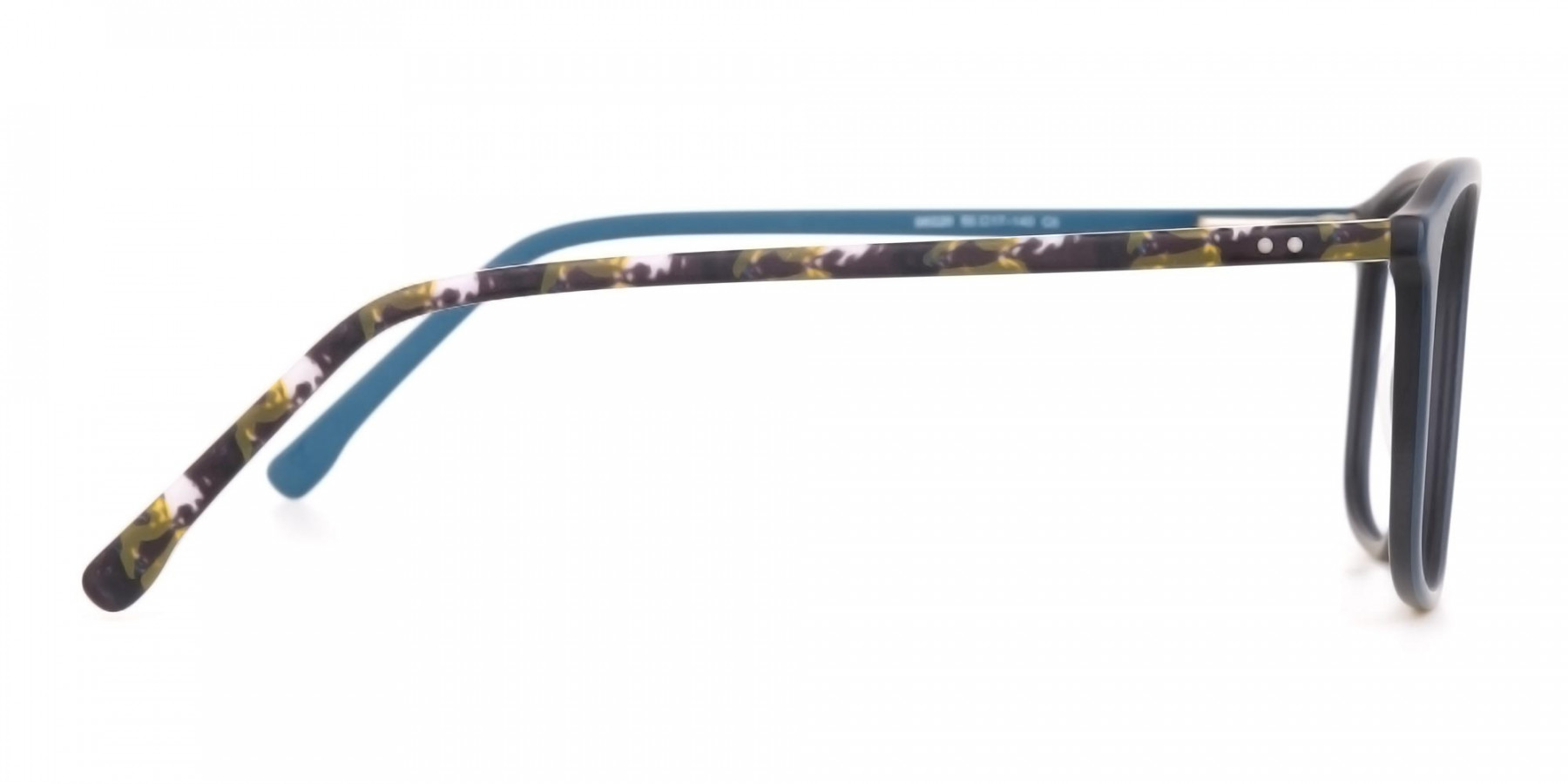 Double Bridge Frame in Turquoise & Camouflage Green -1