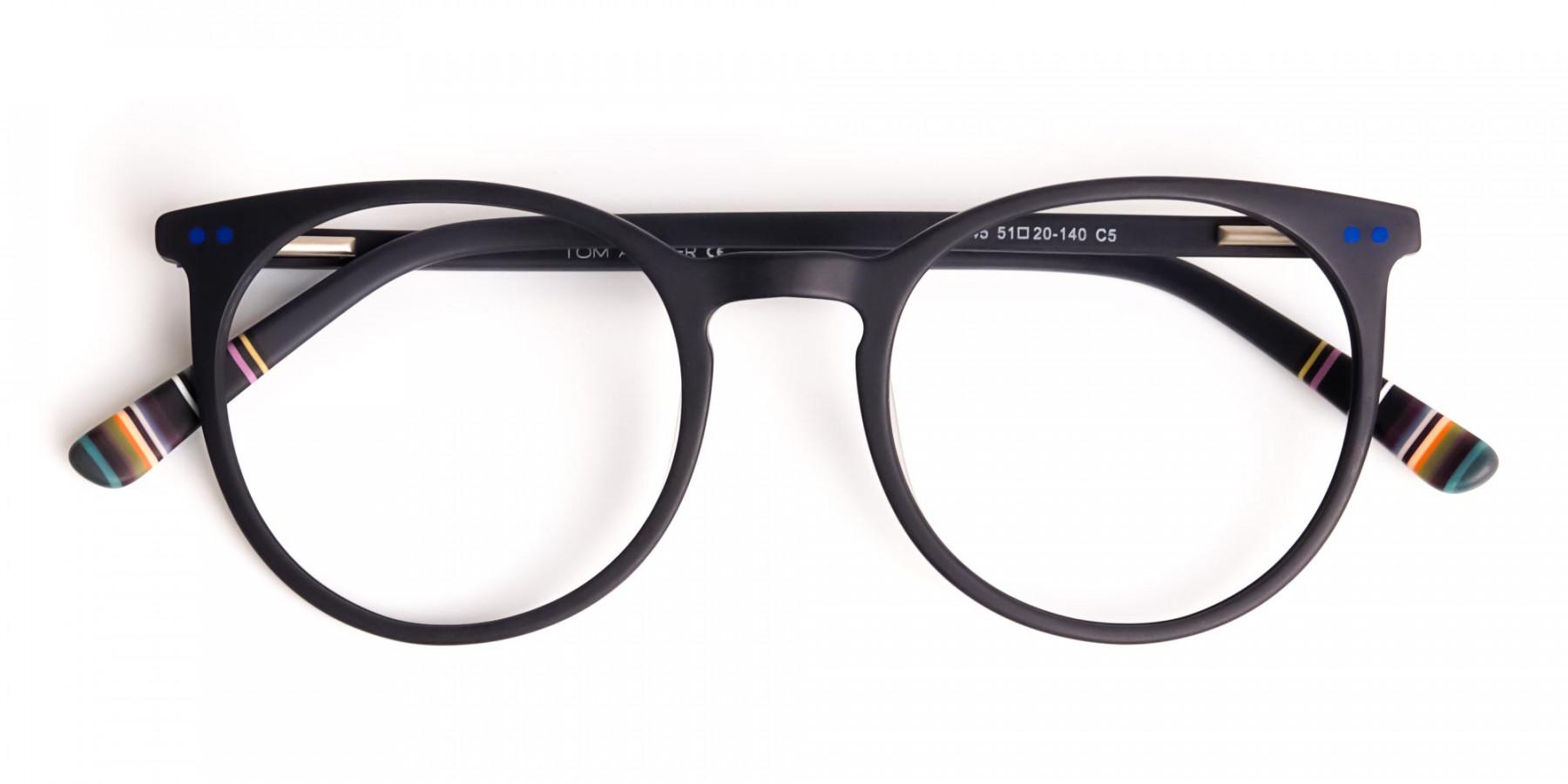matte-black-indigo-blue-designer-round-glasses-frames-1