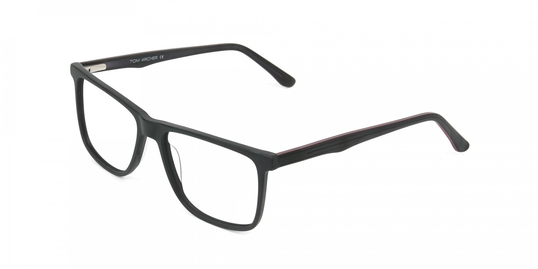 Designer Matte Black Spectacles Rectangular Men Women - 1