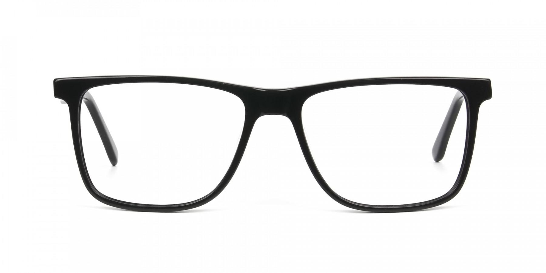 Dark Grey Acetate Glasses in Rectangular - 1