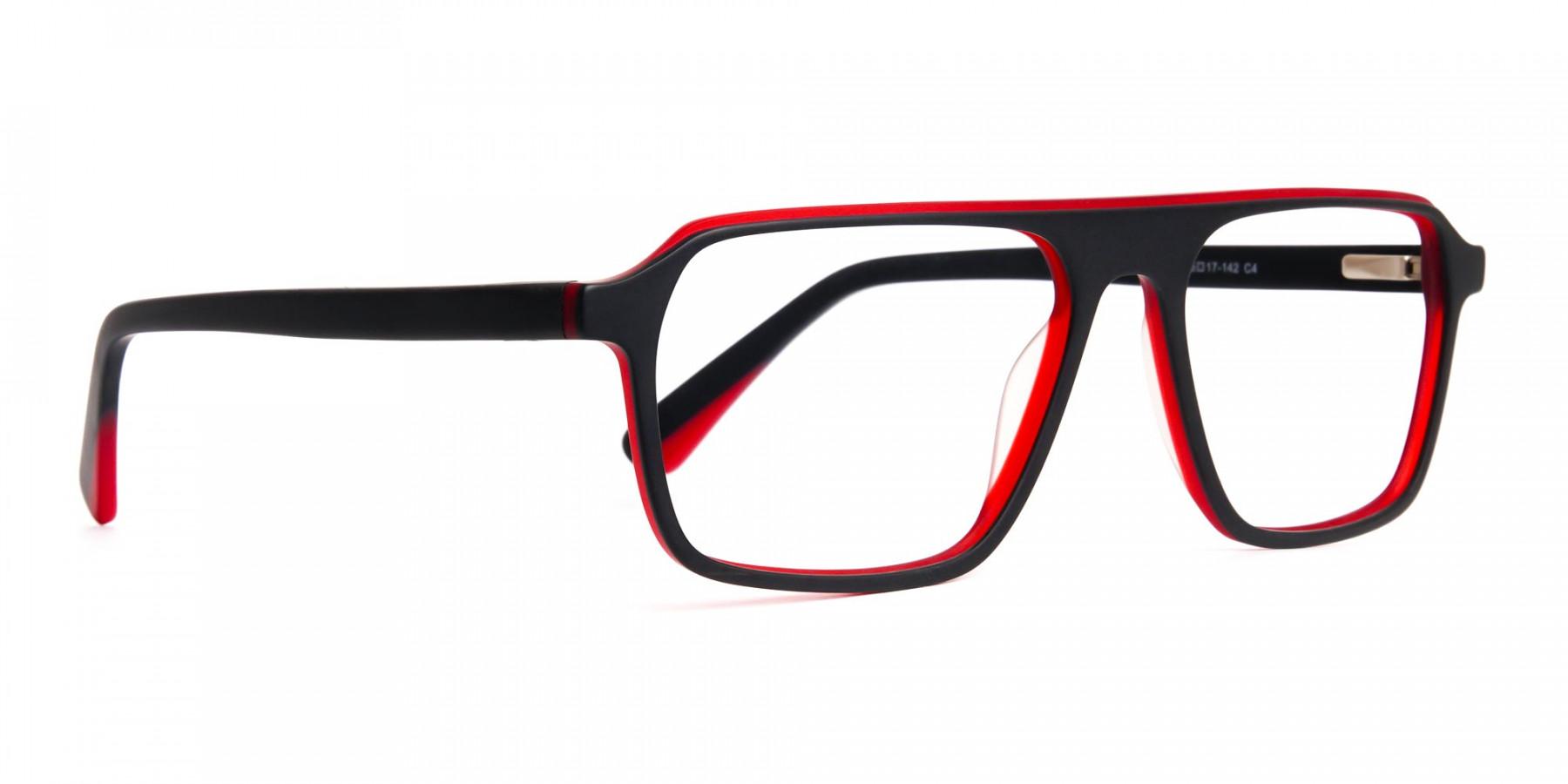 Black-and-Red-Rectangular-Full-Rim-Glasses-frames-1