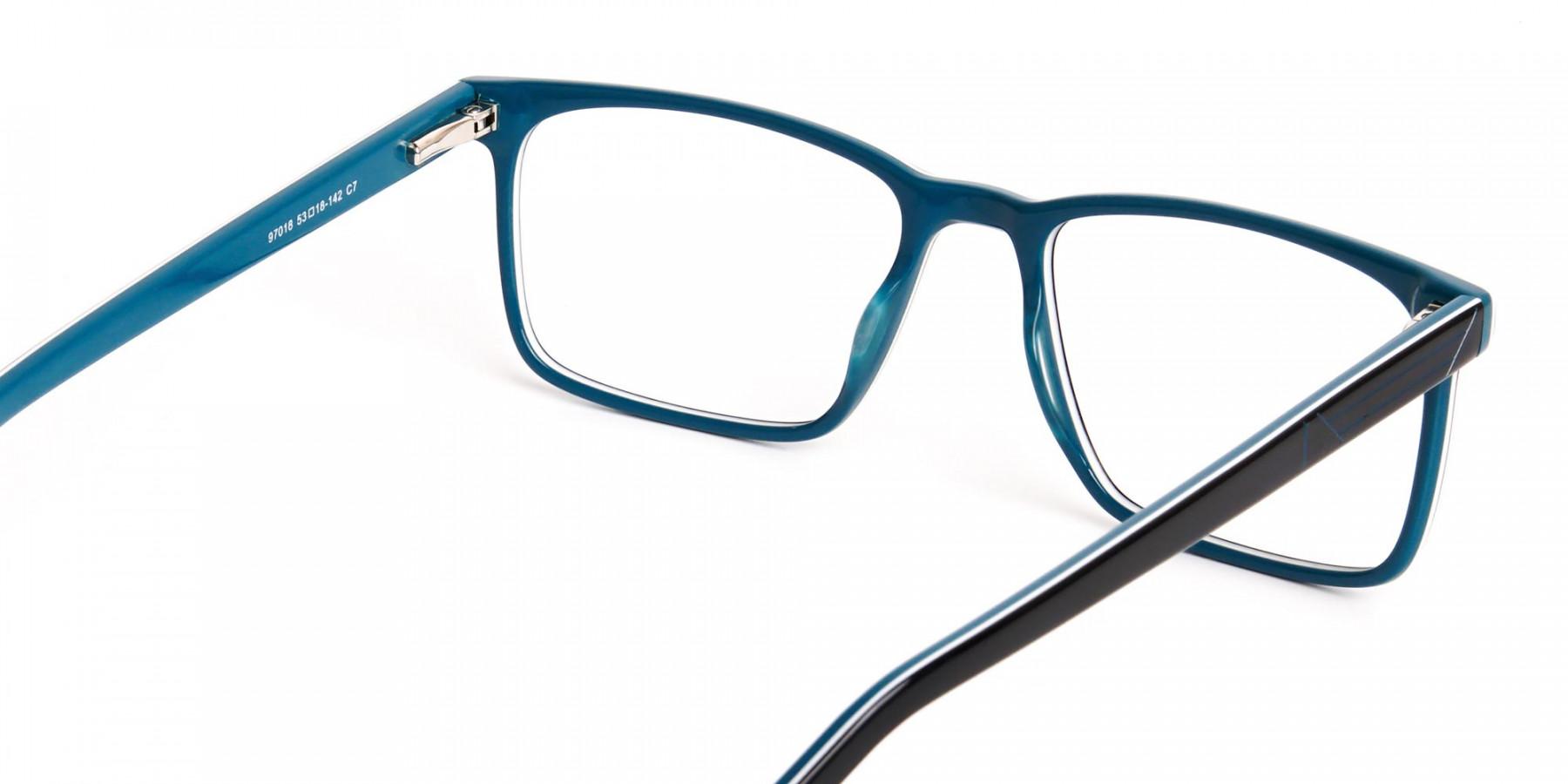 designer-Black-and-teal rectangular-glasses-frames-1