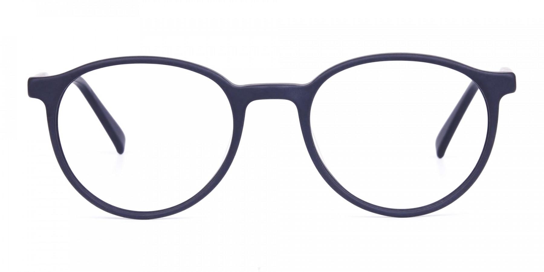 blue light glasses round frame-1