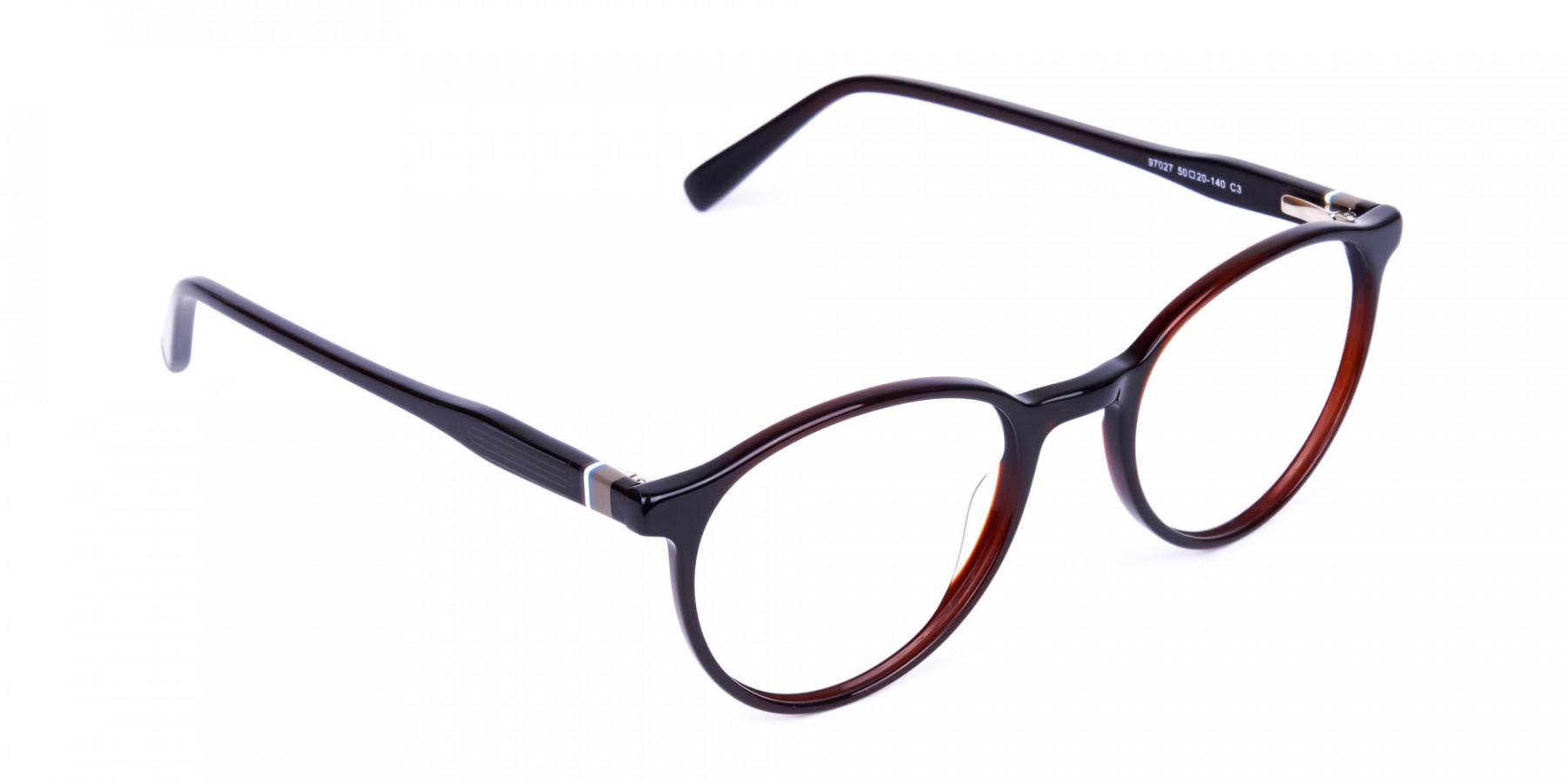blue light round glasses-1
