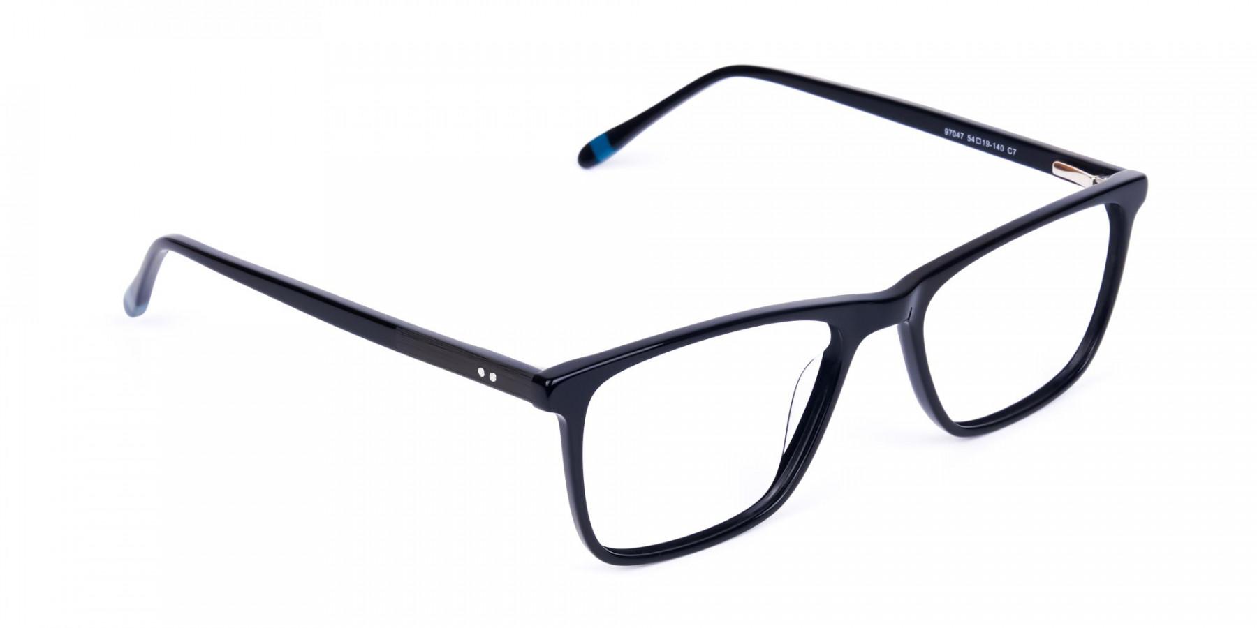 Teal-and-Black-Rectangle-Eyeglasses-1