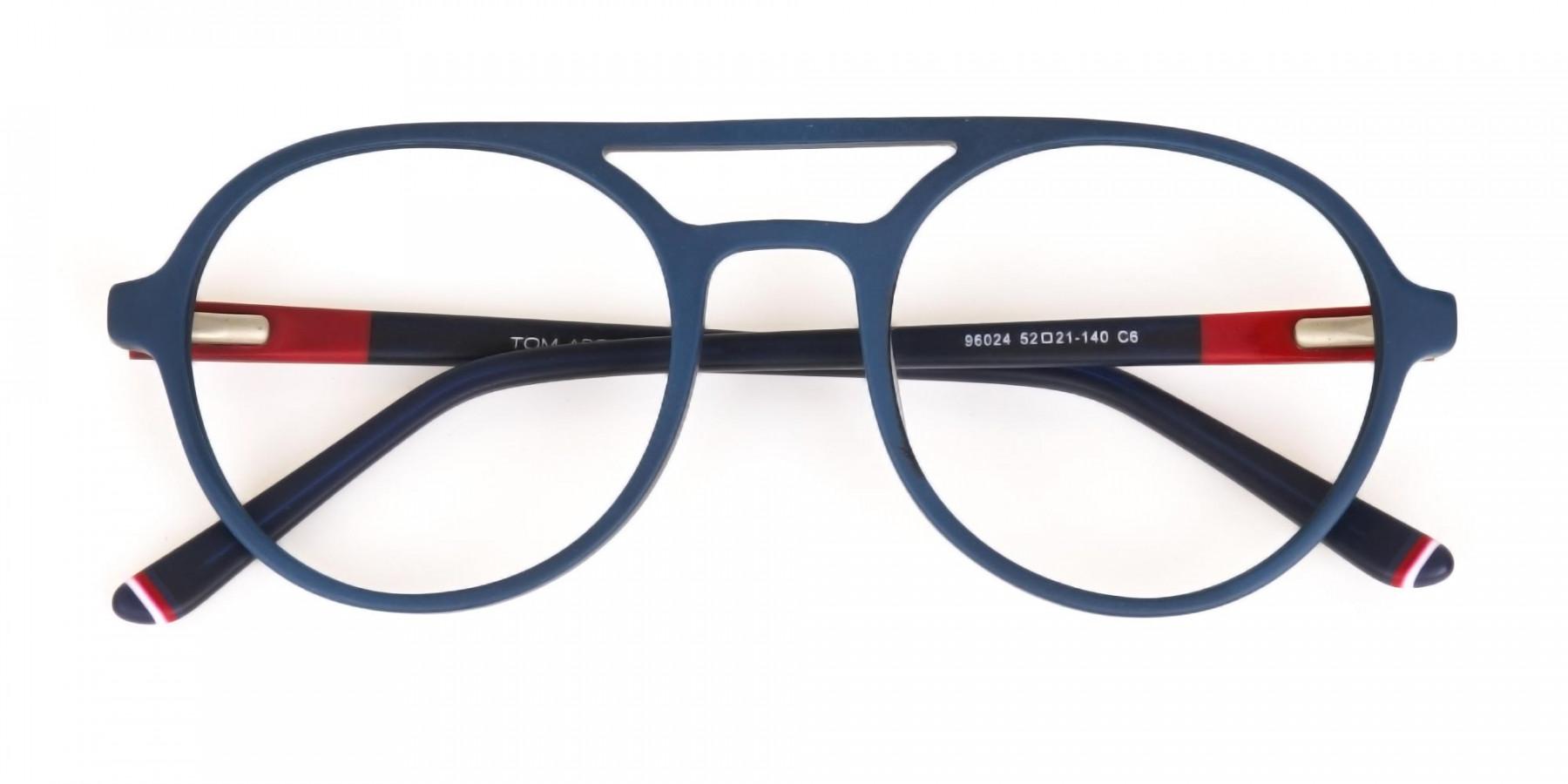 Turquoise Green & Dark Blue Double bridge Glasses -1