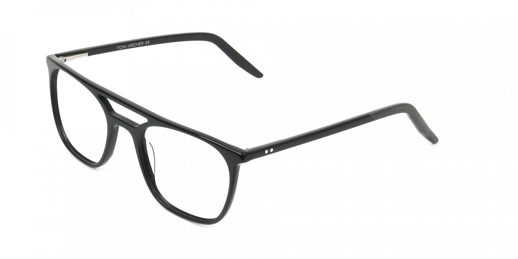Black Aviator Spectacles in Acetate  - 1