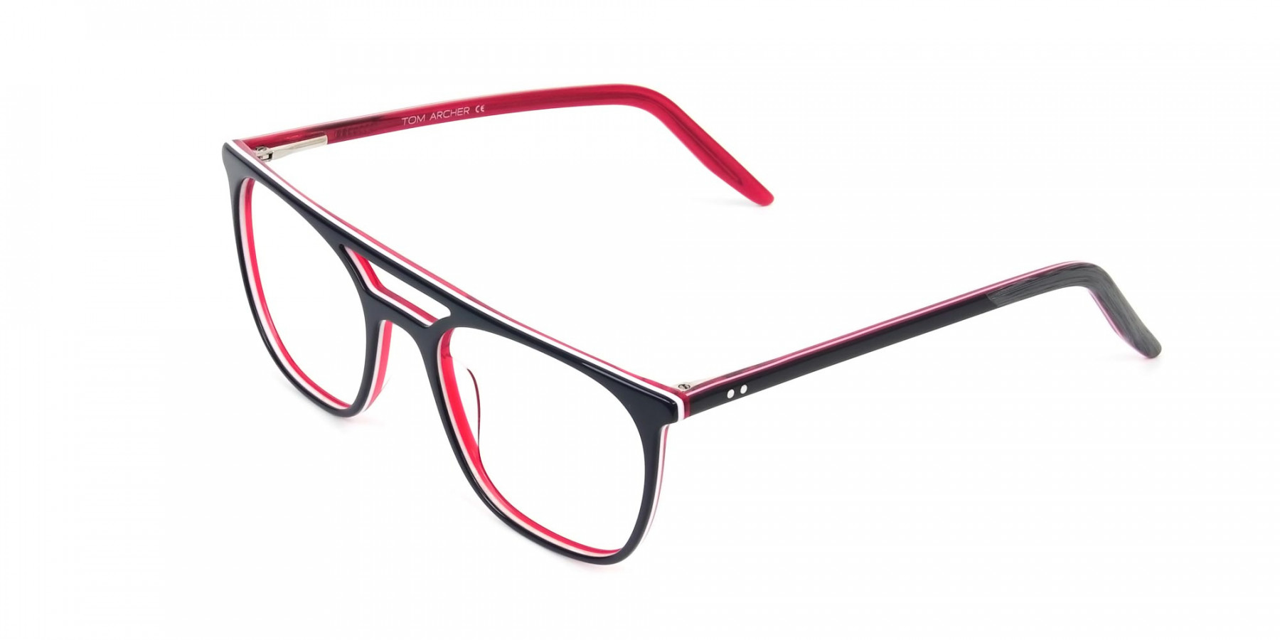 Red & Navy Blue Aviator Spectacles - 1