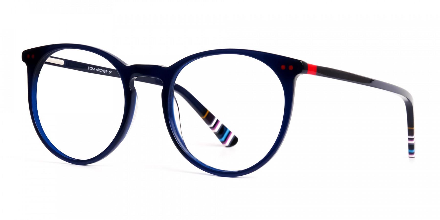 Bright-Indigo-Blue-Designer-Round-Glasses-frames-1