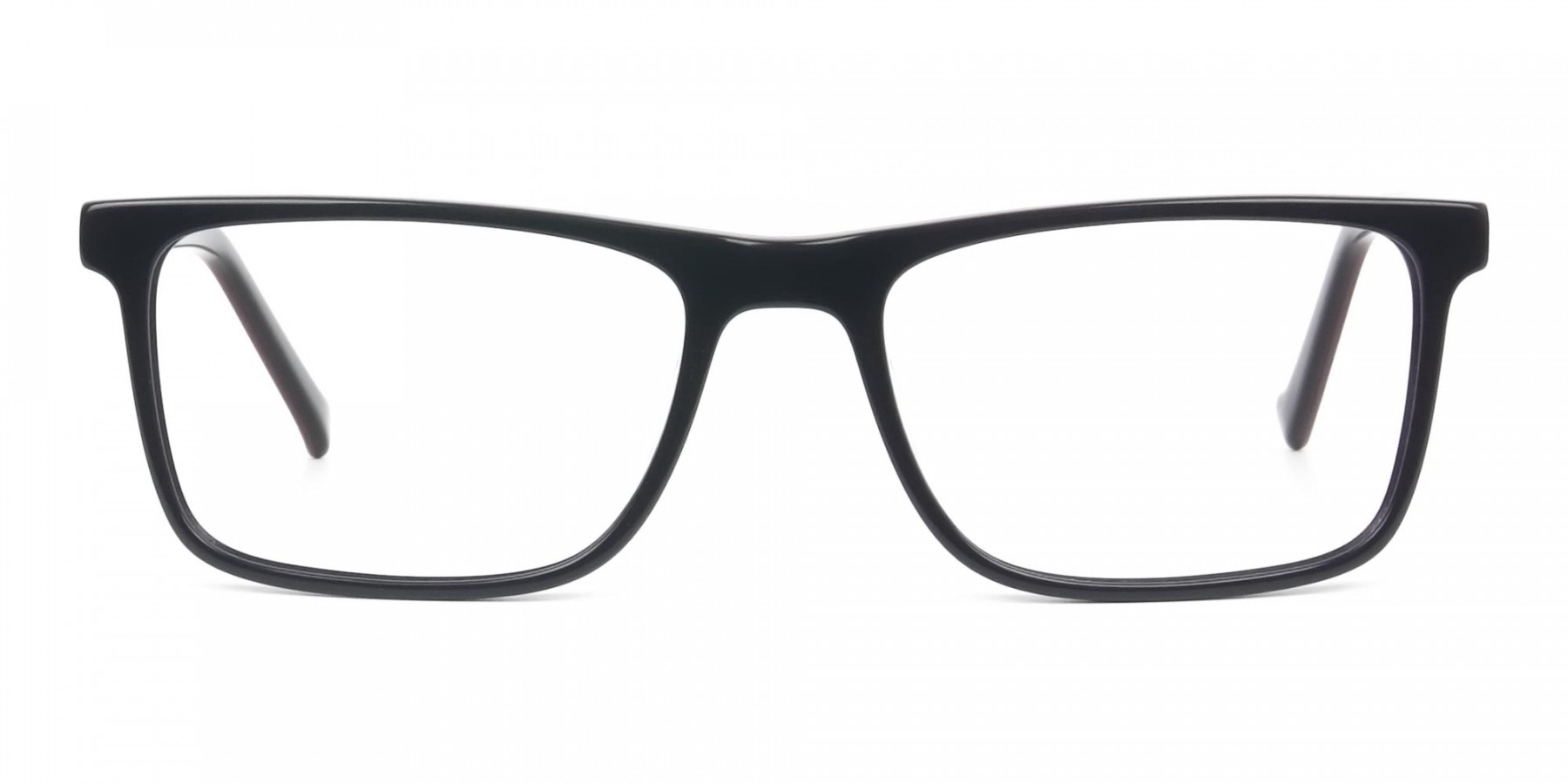 Round Temple Tip Red & Purple Eyeglasses in Rectangular  - 1