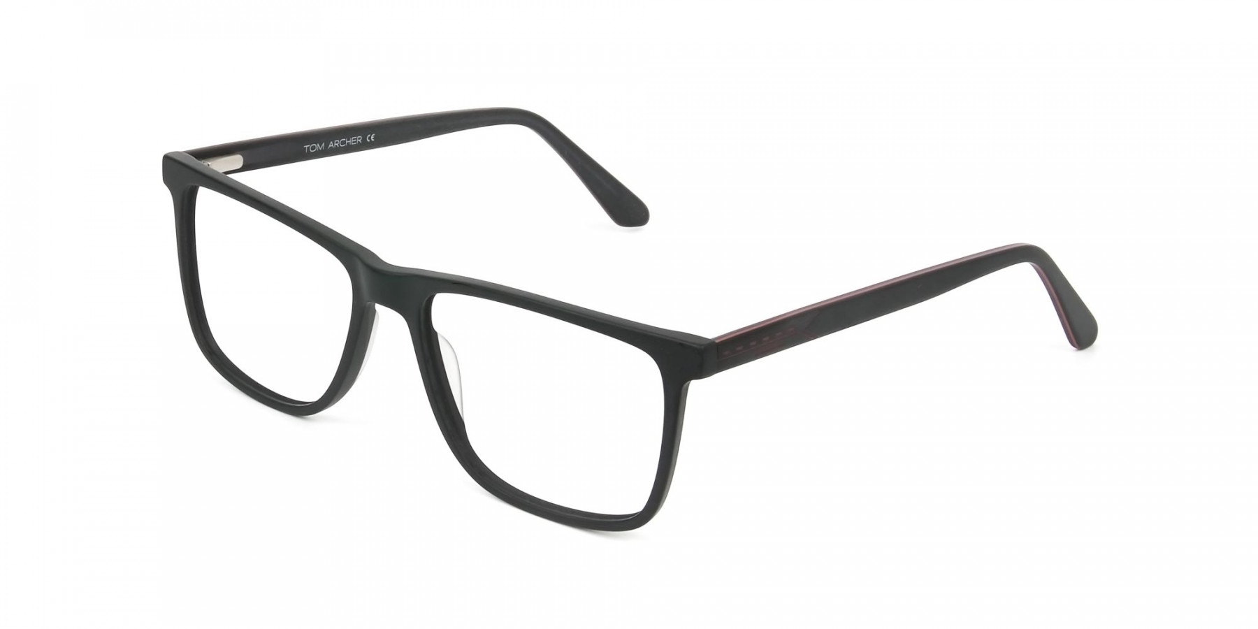 Matte Silver Grey Rectangular Glasses - 1