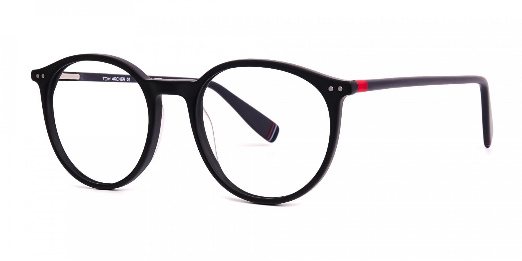 Matte-Dark-Grey-Round-Glasses-frames-1