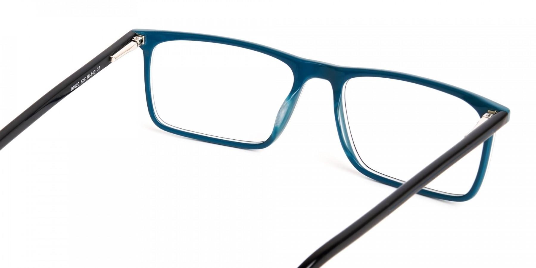 black-and-teal-rectangular-glasses-frames-1